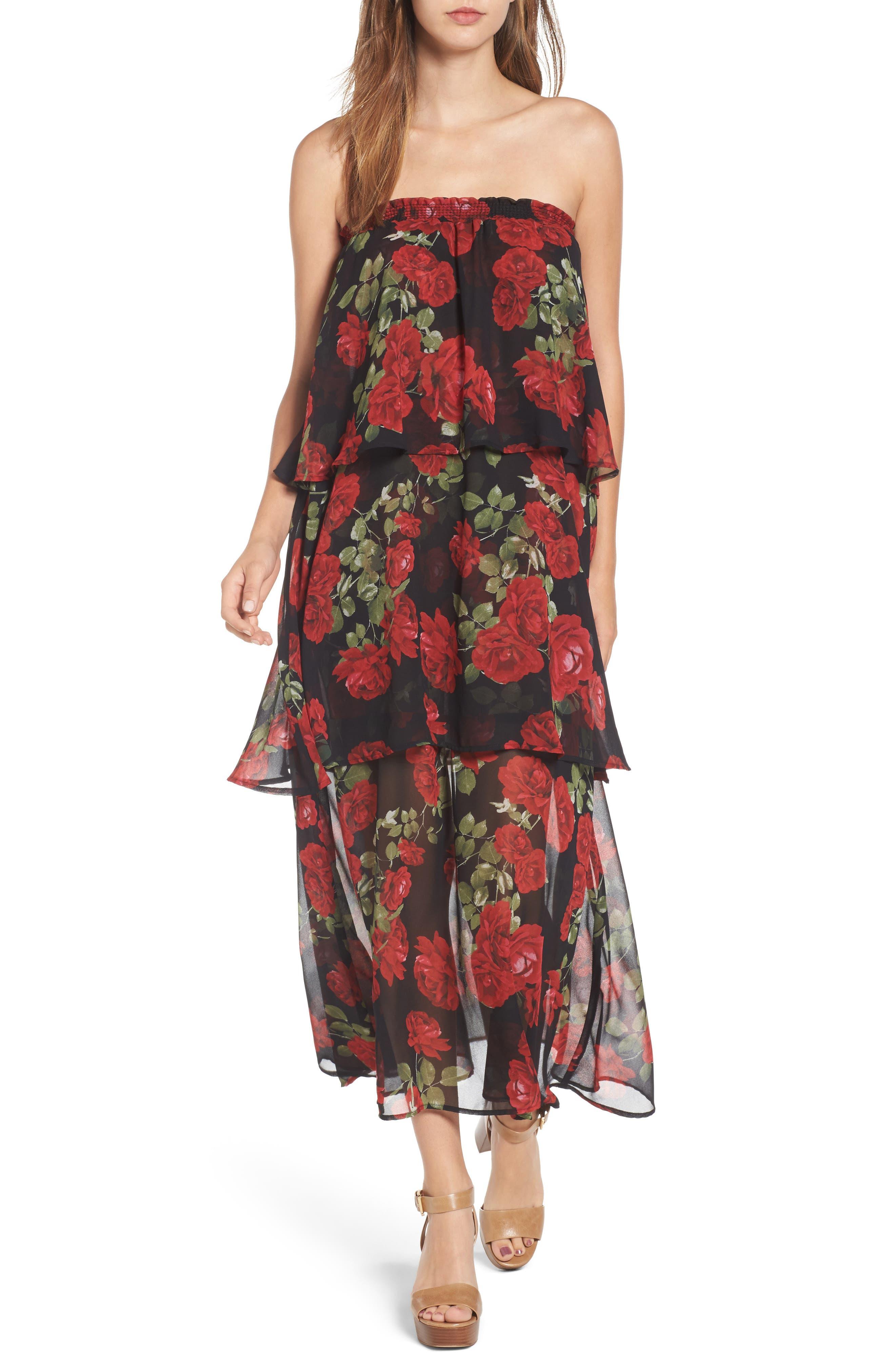 Karla Convertible Strapless Dress,                             Main thumbnail 2, color,