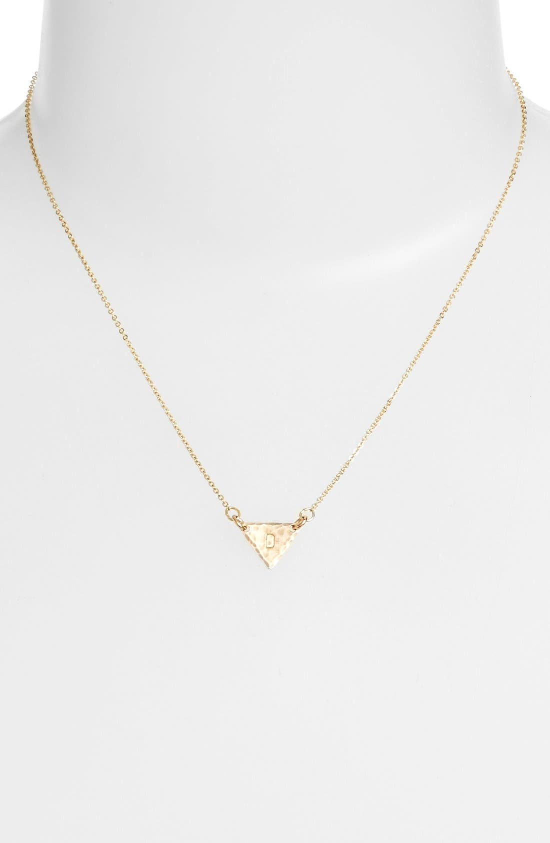 14k-Gold Fill Initial Triangle Necklace,                             Alternate thumbnail 30, color,