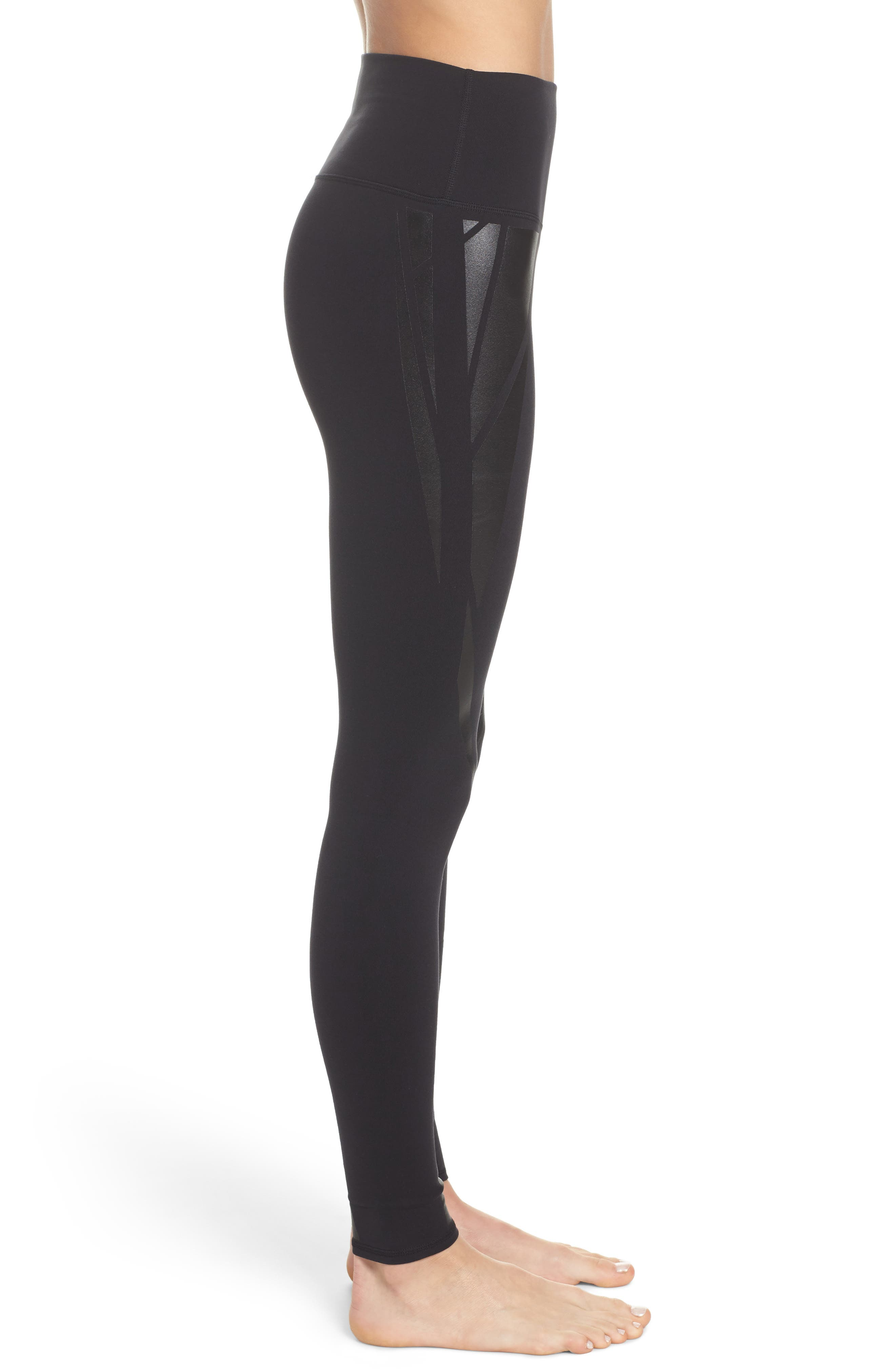 Airbrush High Waist Leggings,                             Alternate thumbnail 3, color,                             011