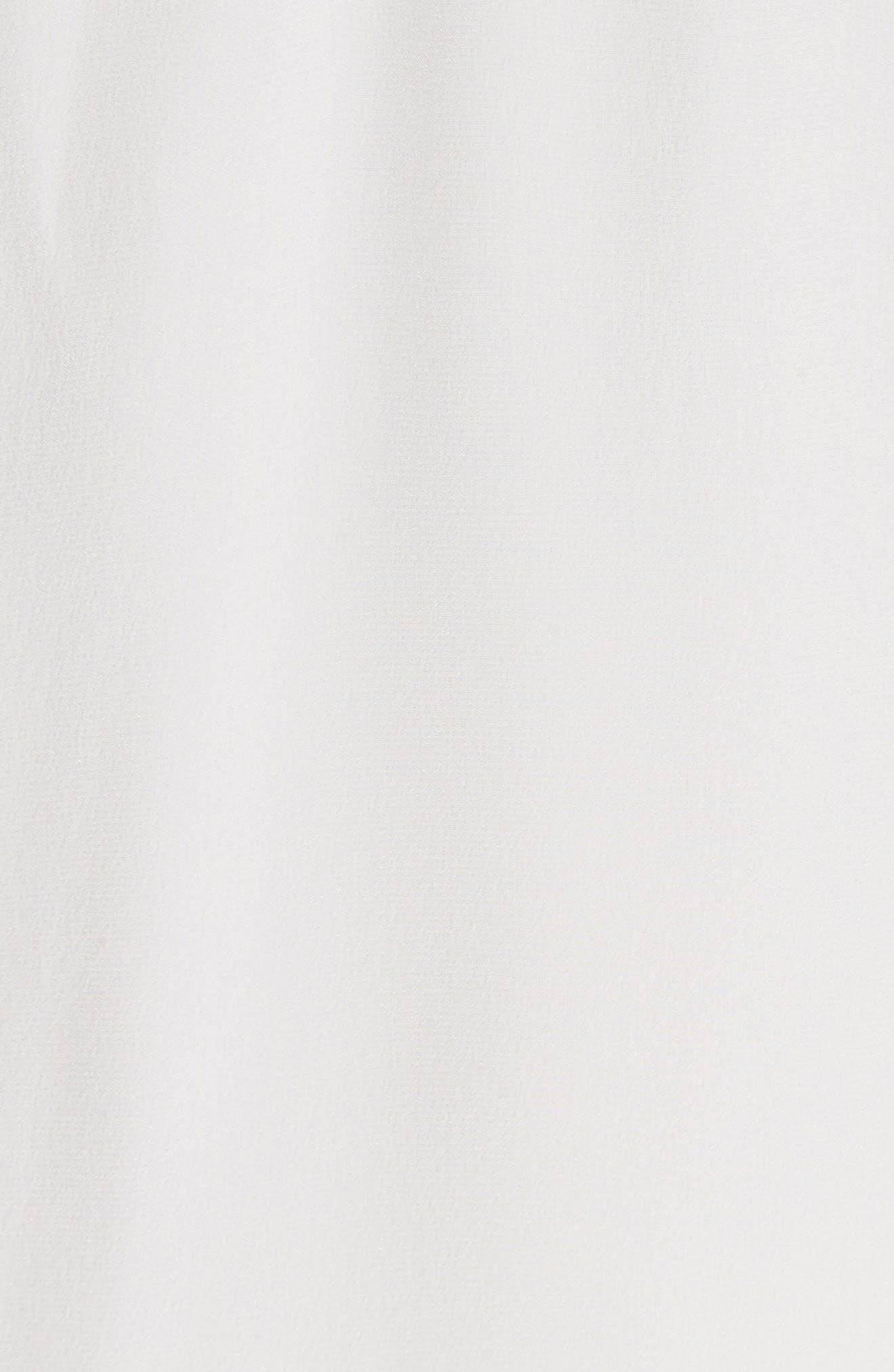 Sleeveless Silk & Lace Dress,                             Alternate thumbnail 5, color,