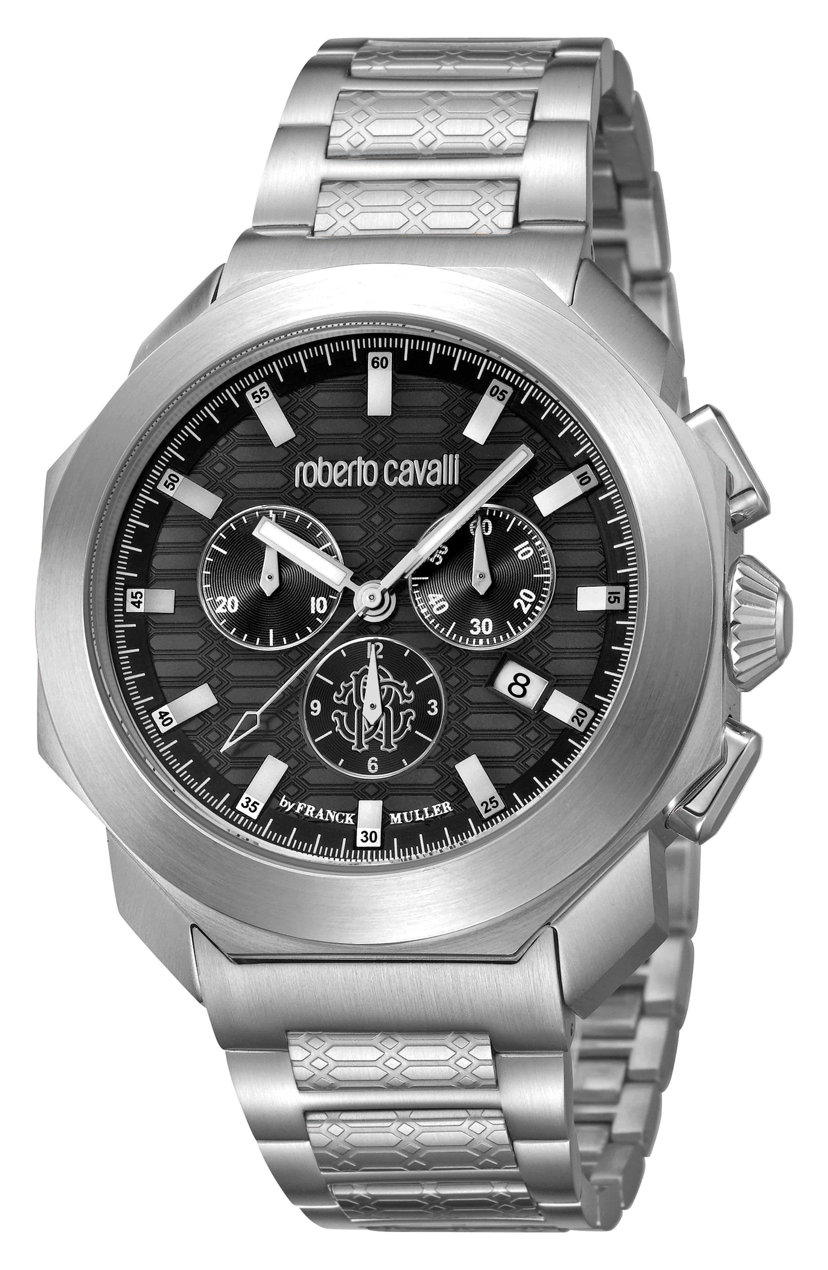 Sport Classic Chronograph Bracelet Watch,                         Main,                         color, SILVER/ BLACK