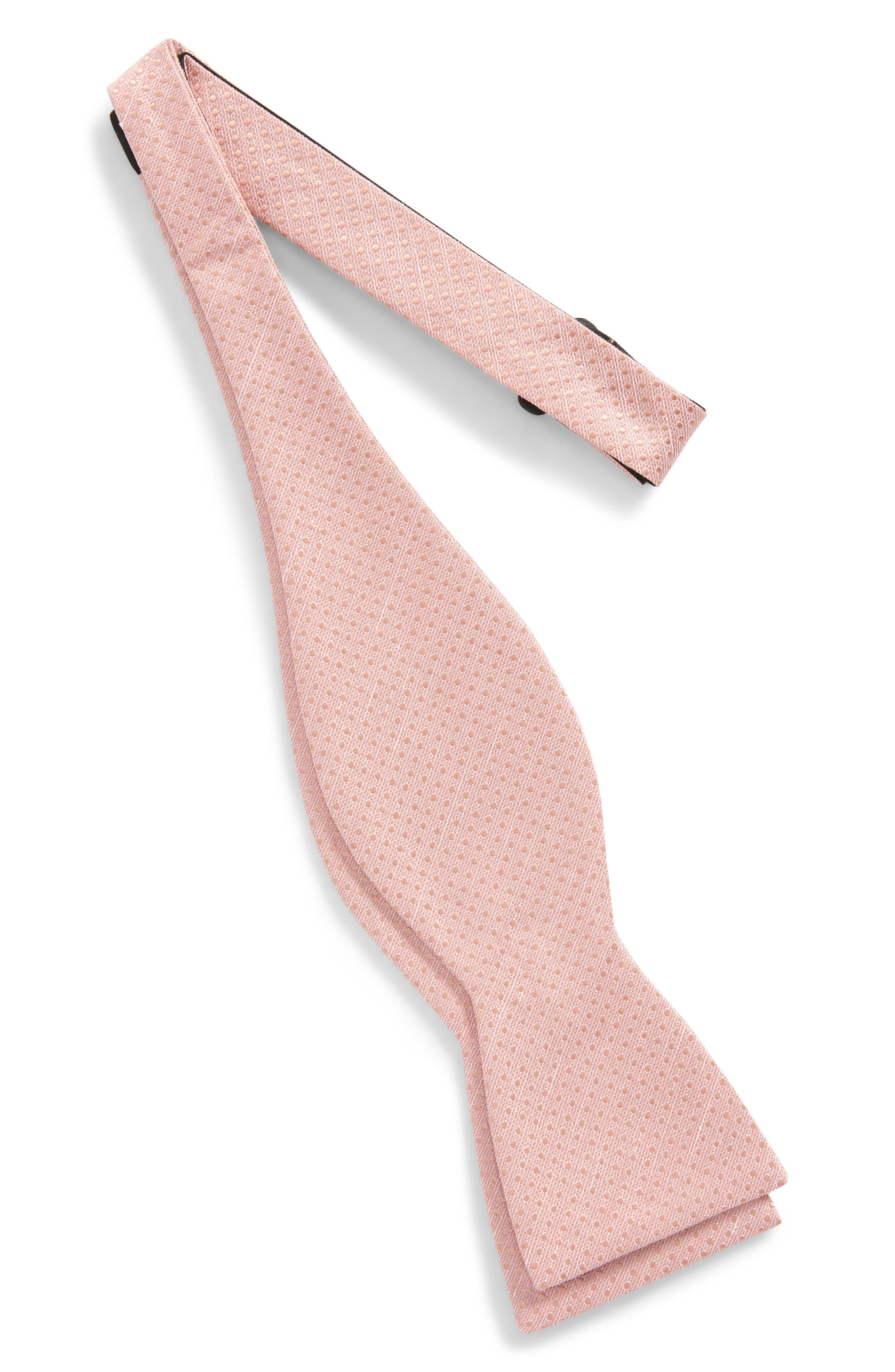 Dotted Spin Silk & Linen Bow Tie,                             Alternate thumbnail 7, color,