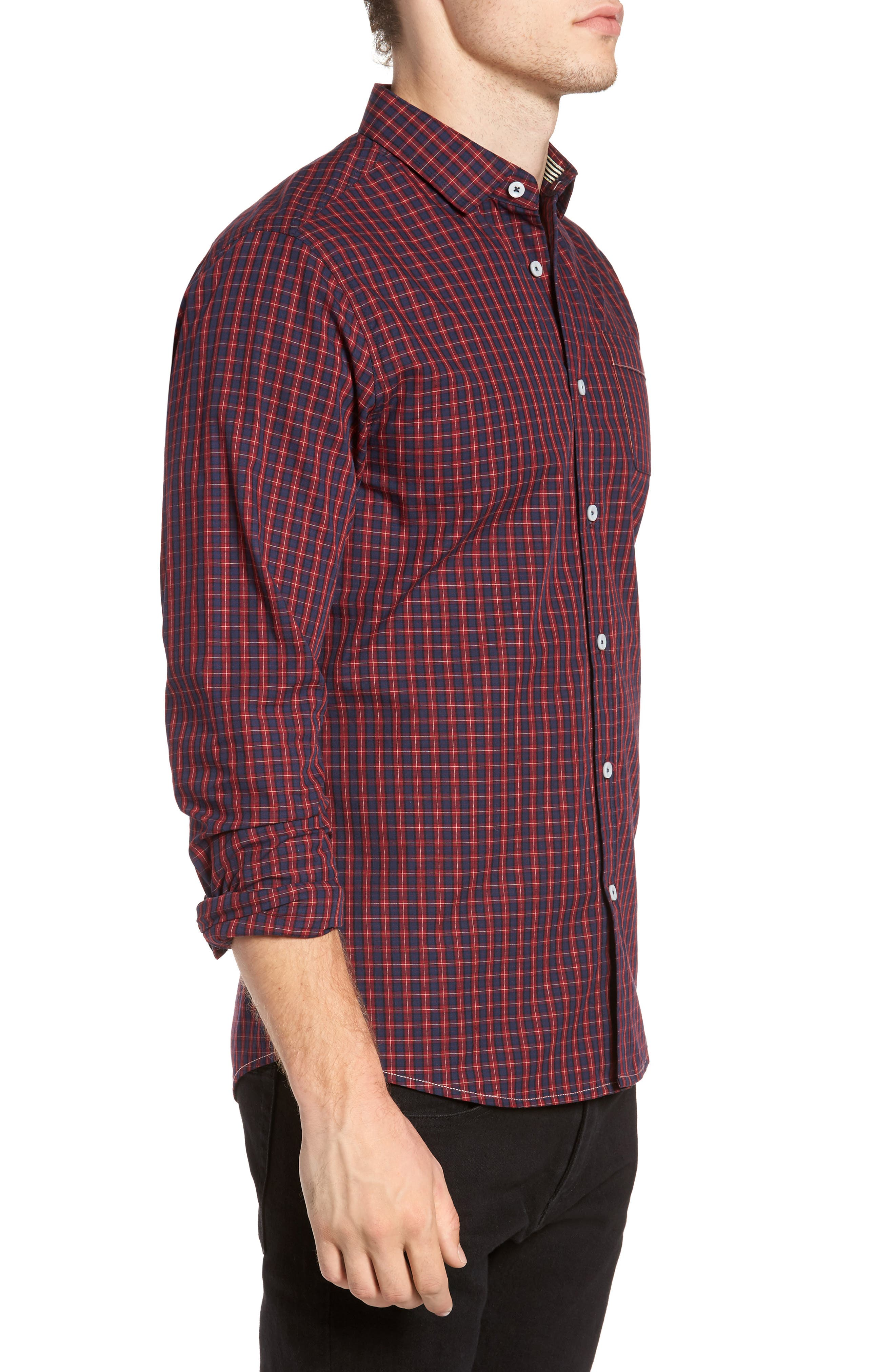 Tinto Plaid Woven Shirt,                             Alternate thumbnail 3, color,                             600