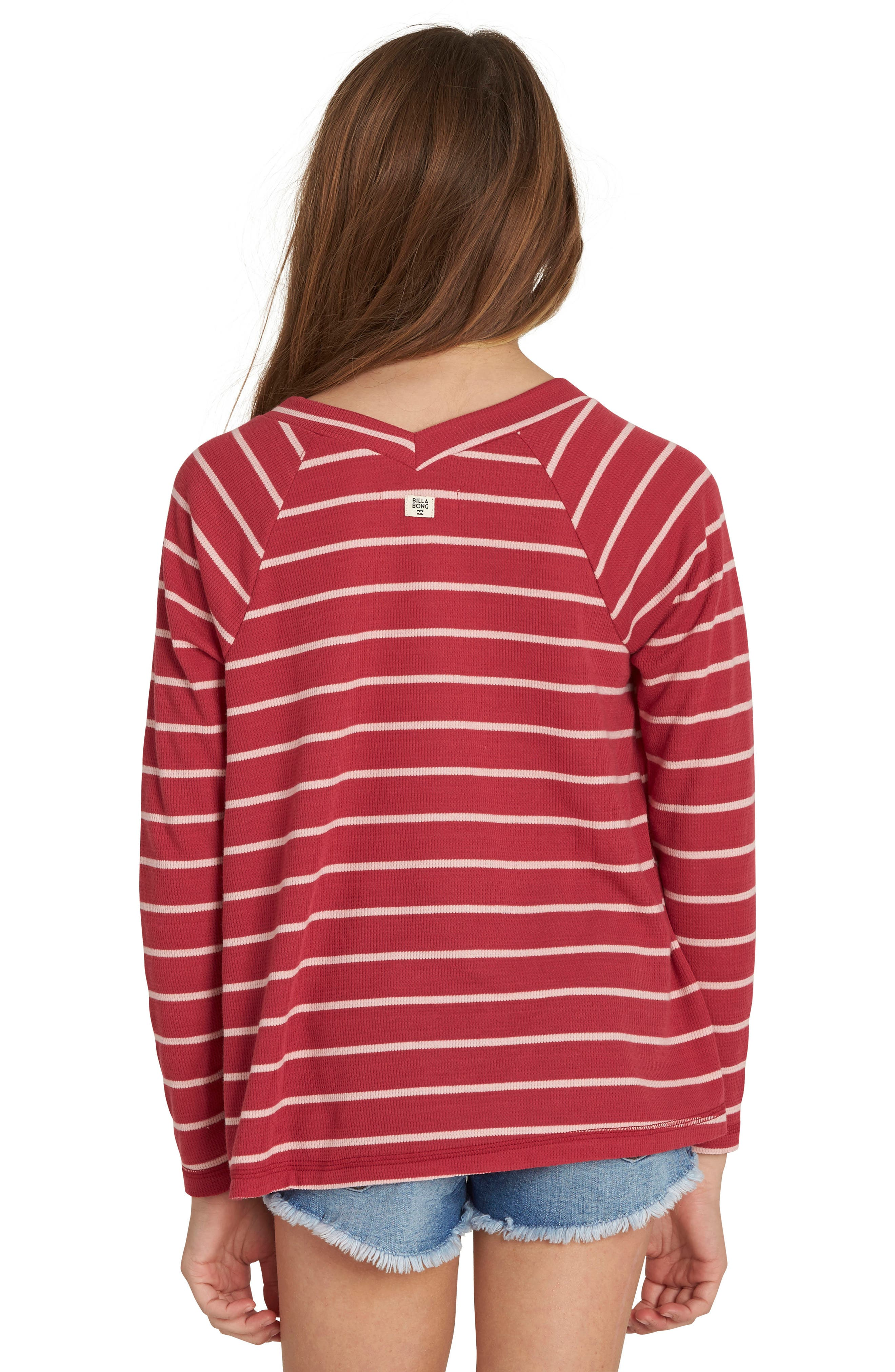 Ocean Tides Waffle Knit Tee,                             Alternate thumbnail 4, color,