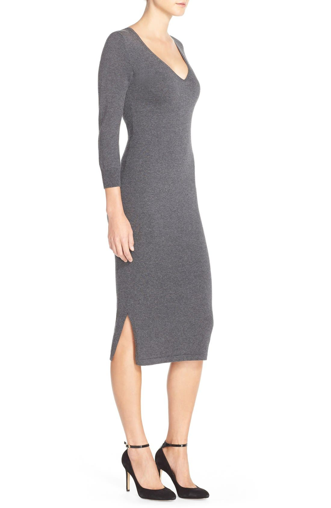 'Bambino' Knit Sweater Dress,                             Alternate thumbnail 3, color,                             023