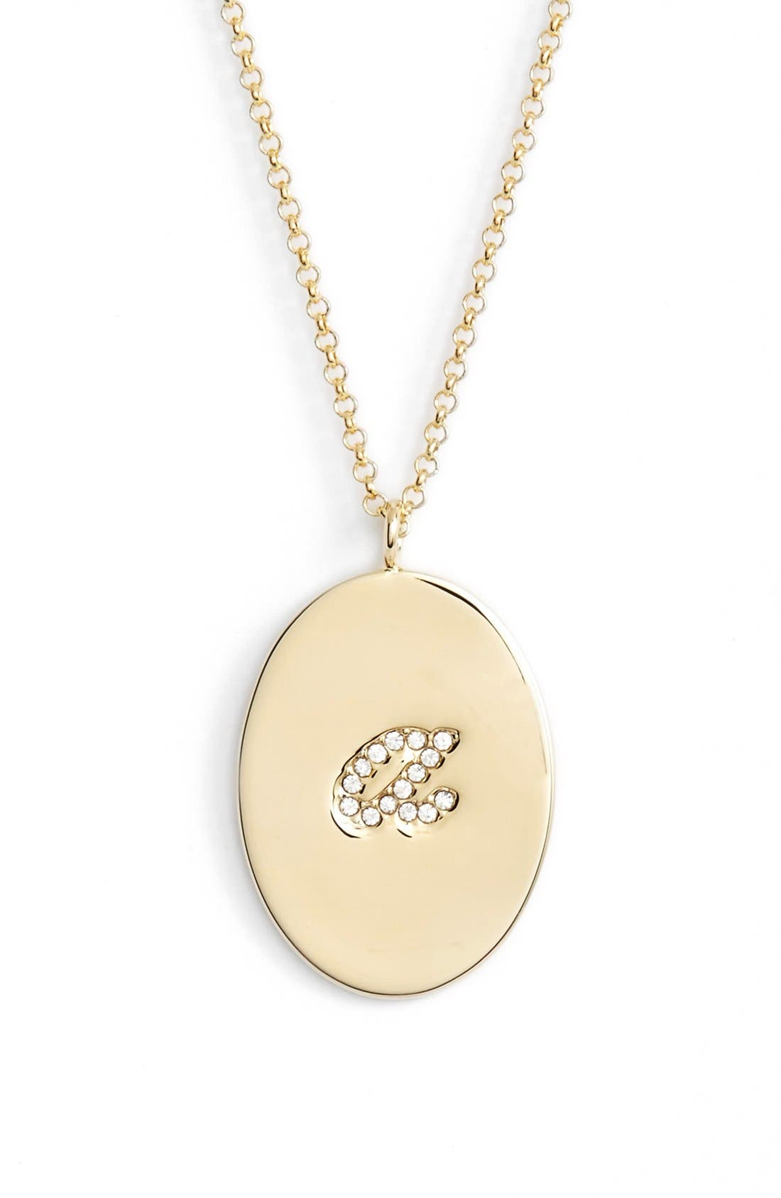 'initial thoughts' initial pendant necklace,                         Main,                         color, 710