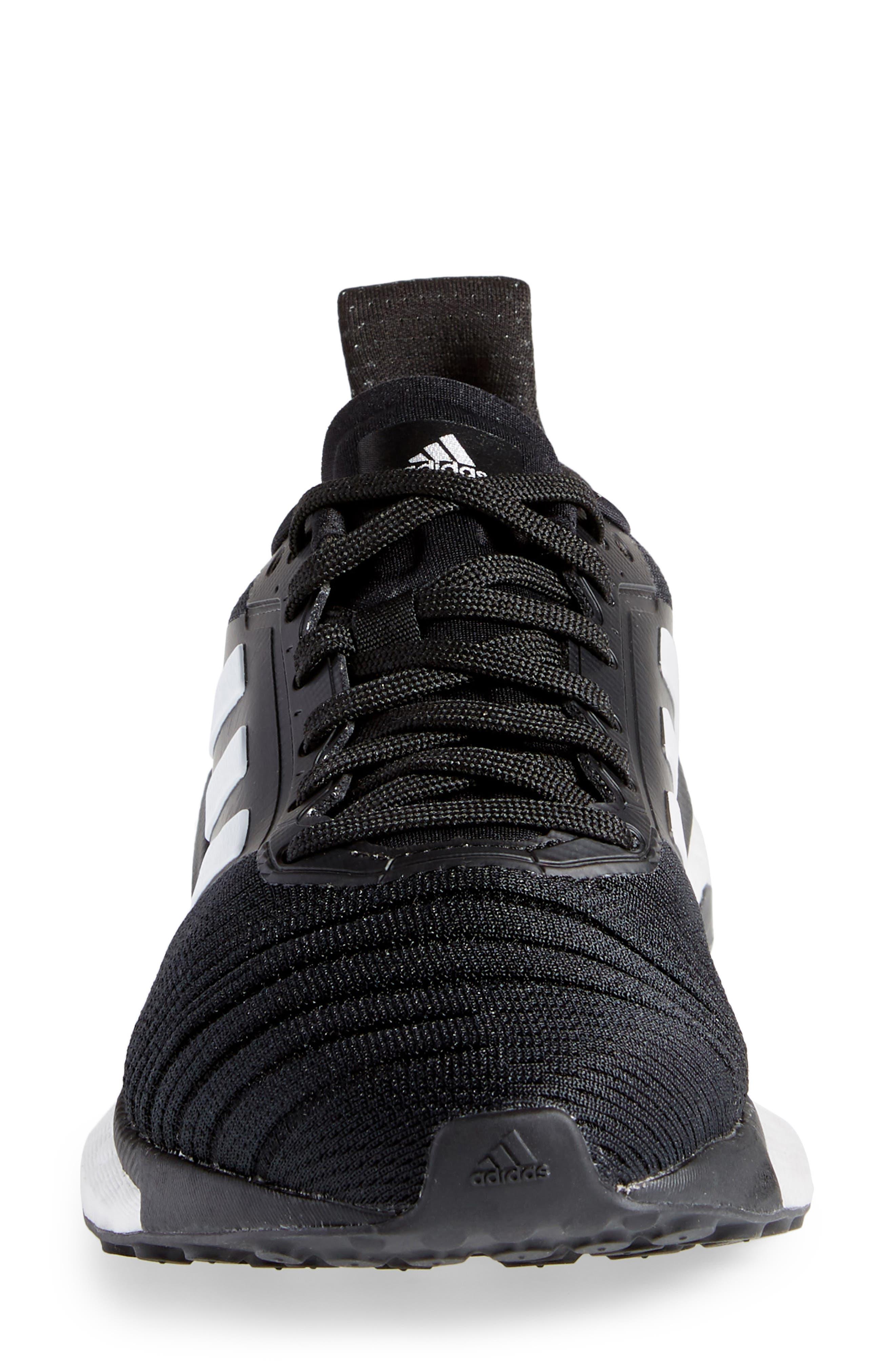 Solar Glide Running Shoe,                             Alternate thumbnail 4, color,                             BLACK/ WHITE/ BLACK