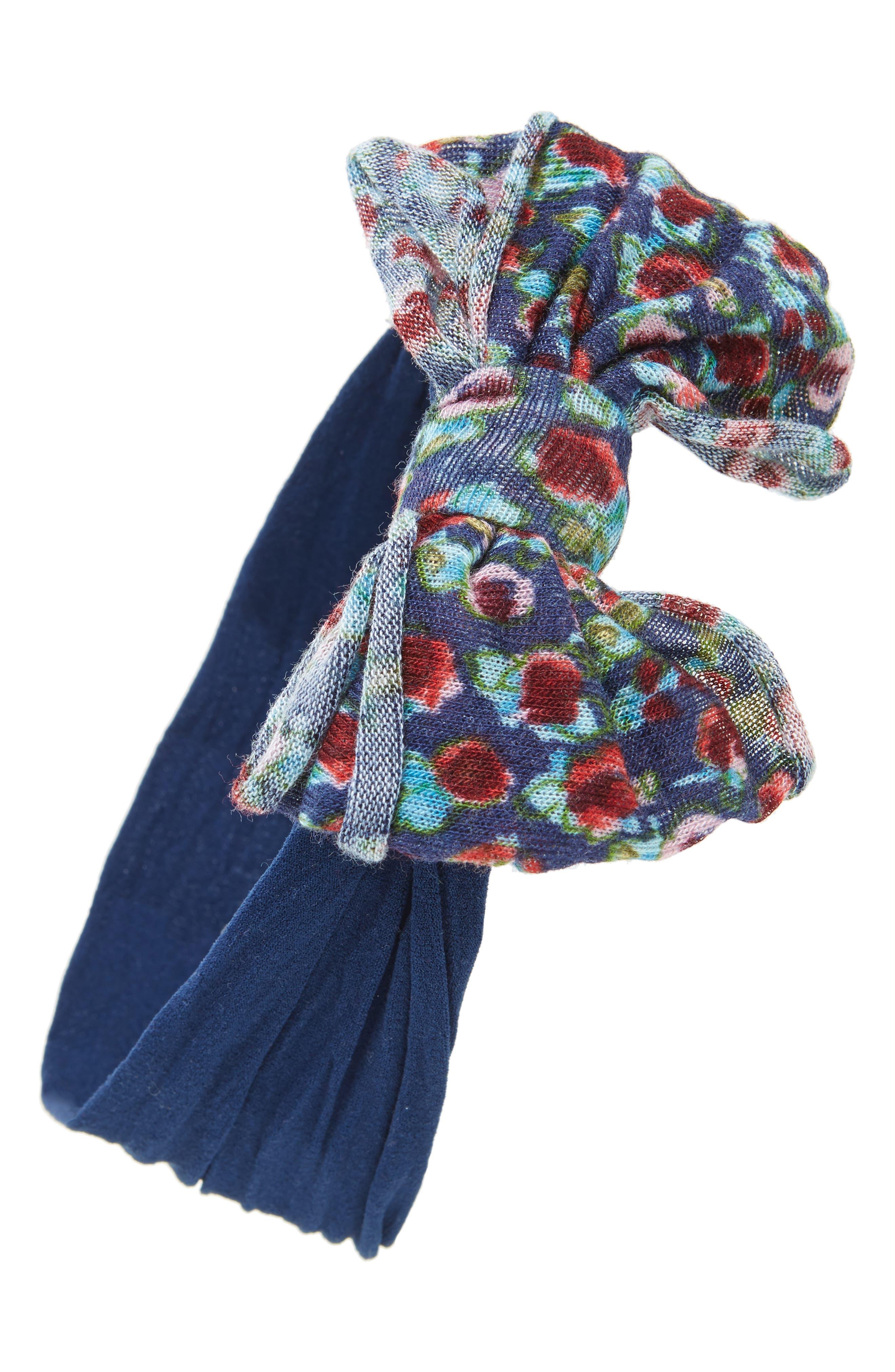 Jersey Bow Headband,                             Main thumbnail 2, color,