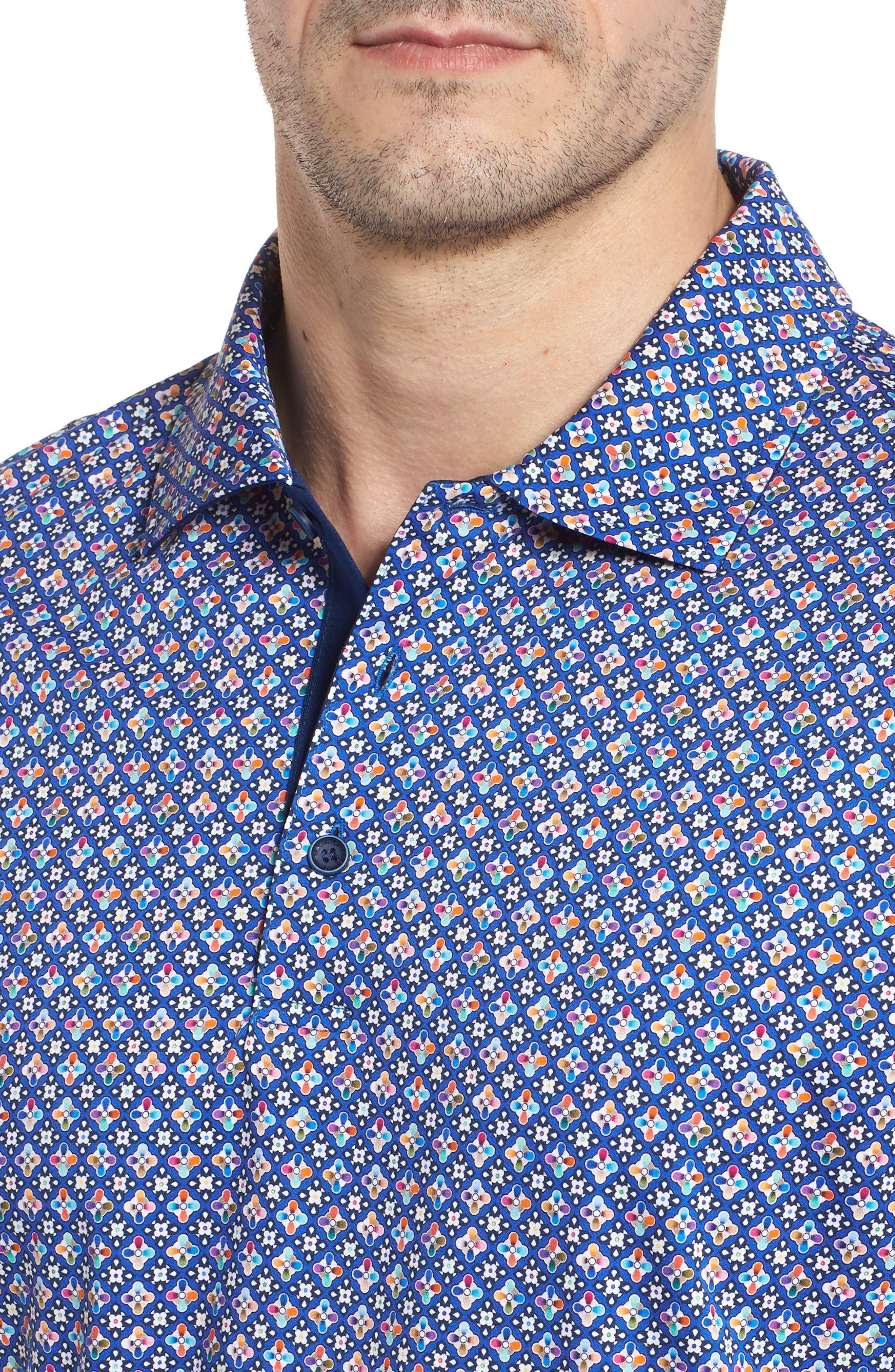 Regular Fit Knit Polo,                             Alternate thumbnail 4, color,