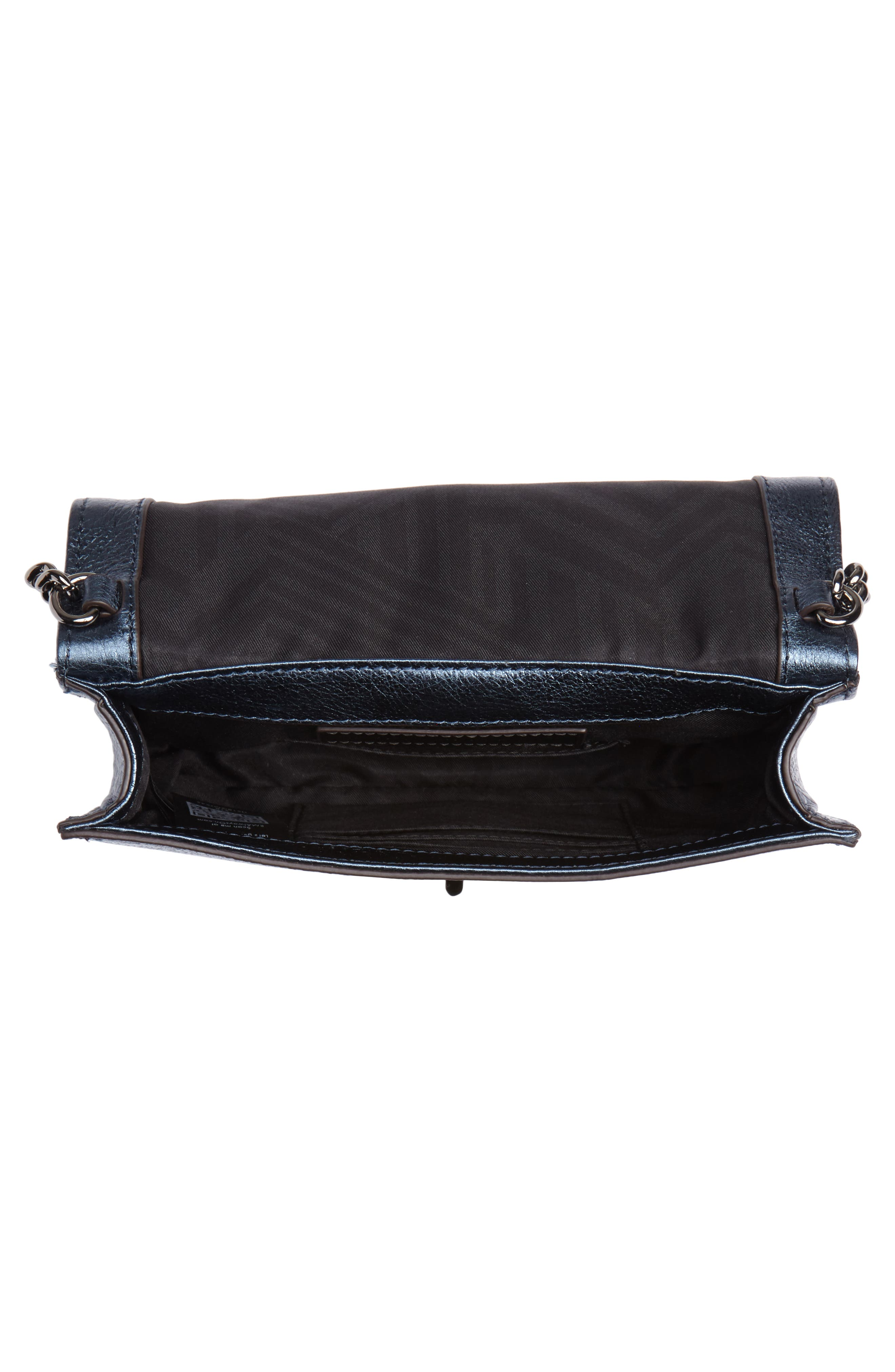 Small Love Metallic Leather Crossbody Bag,                             Alternate thumbnail 11, color,