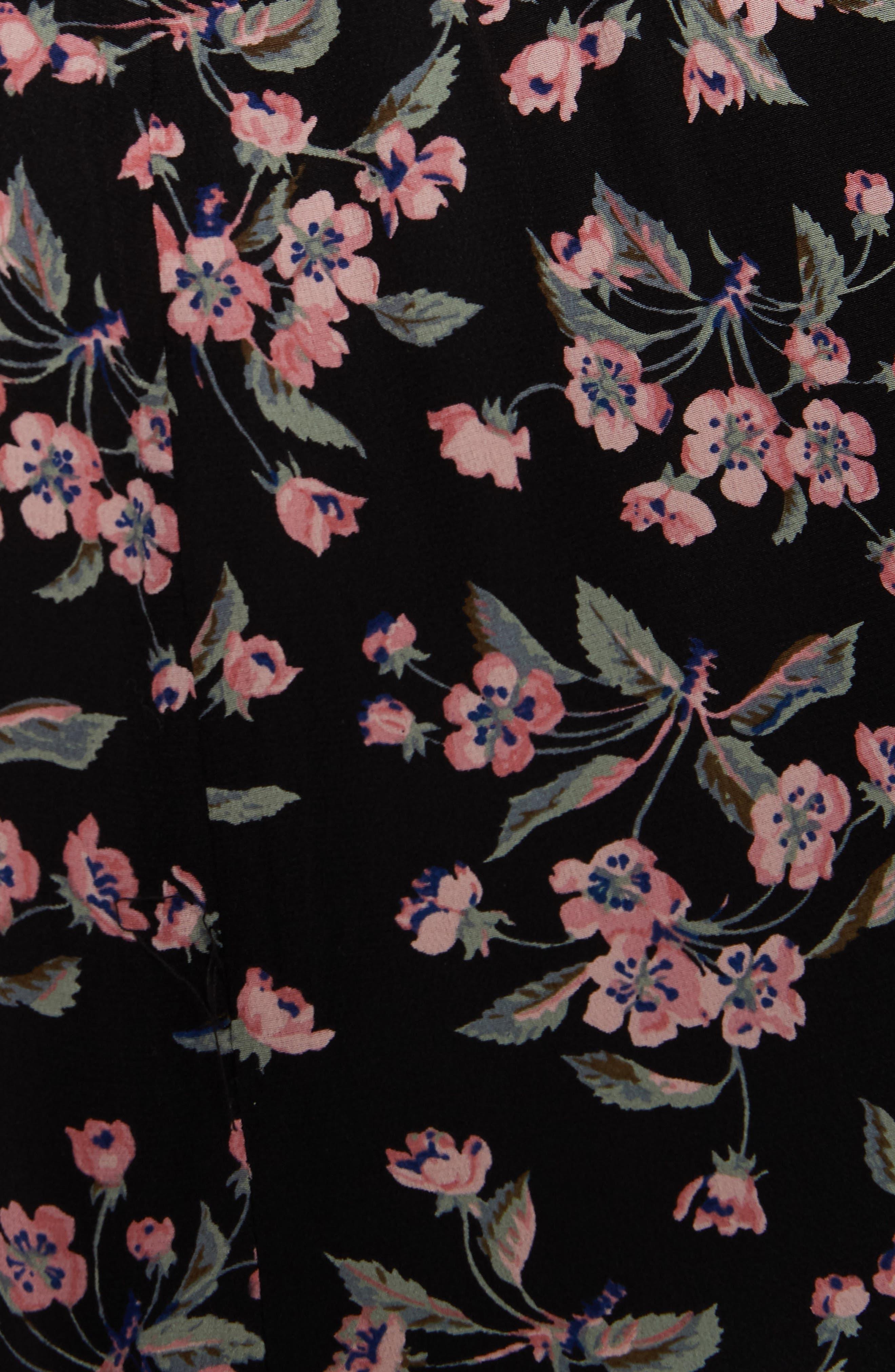 REBECCA TAYLOR,                             Tilda Silk Ruffle Dress,                             Alternate thumbnail 6, color,                             014