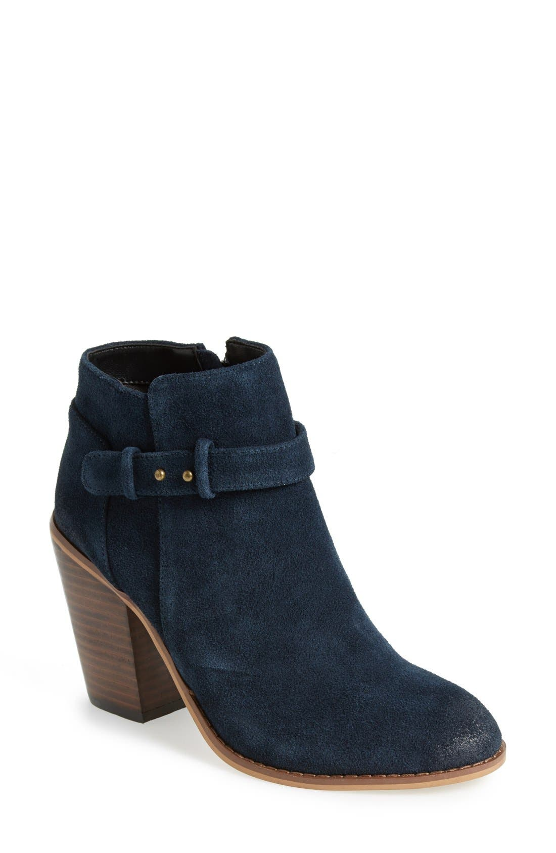'Lyriq' Bootie,                             Main thumbnail 1, color,                             INK NAVY SUEDE