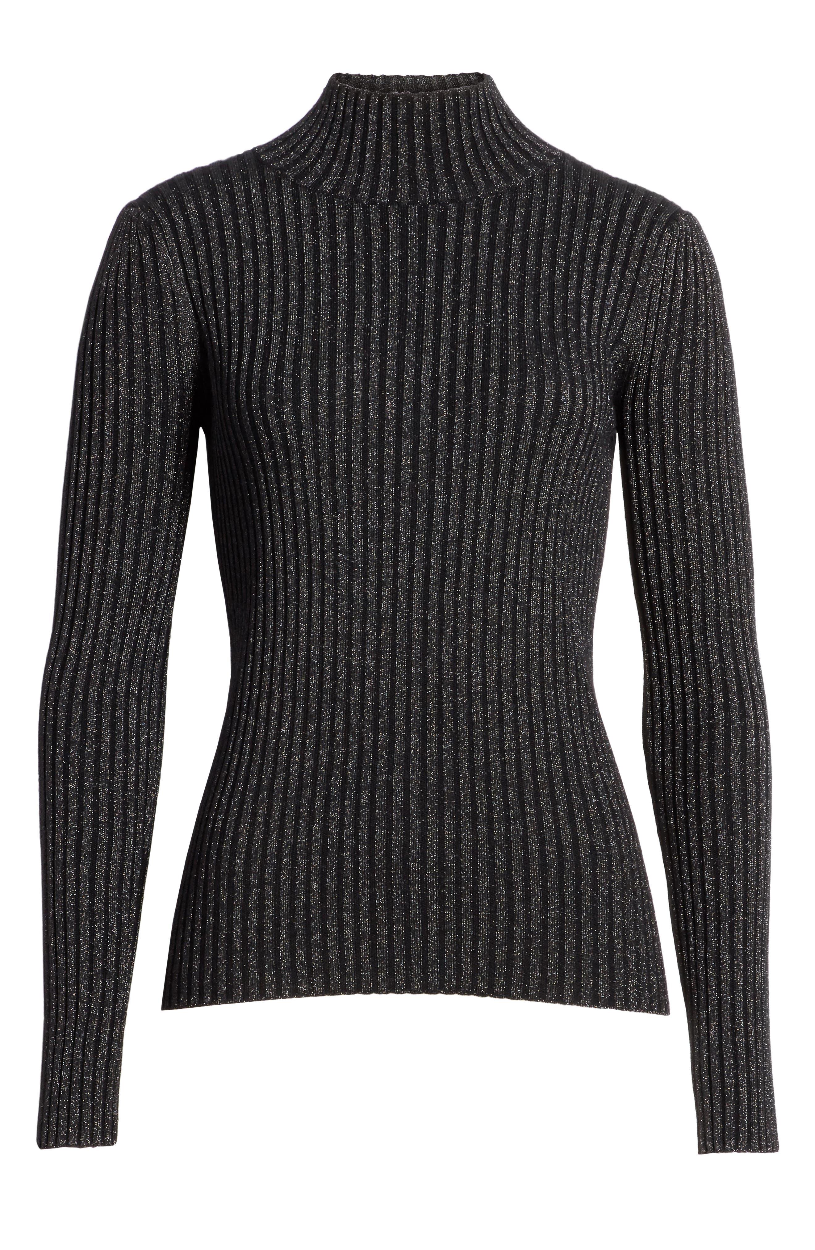 Rib Turtleneck Pullover,                             Alternate thumbnail 12, color,
