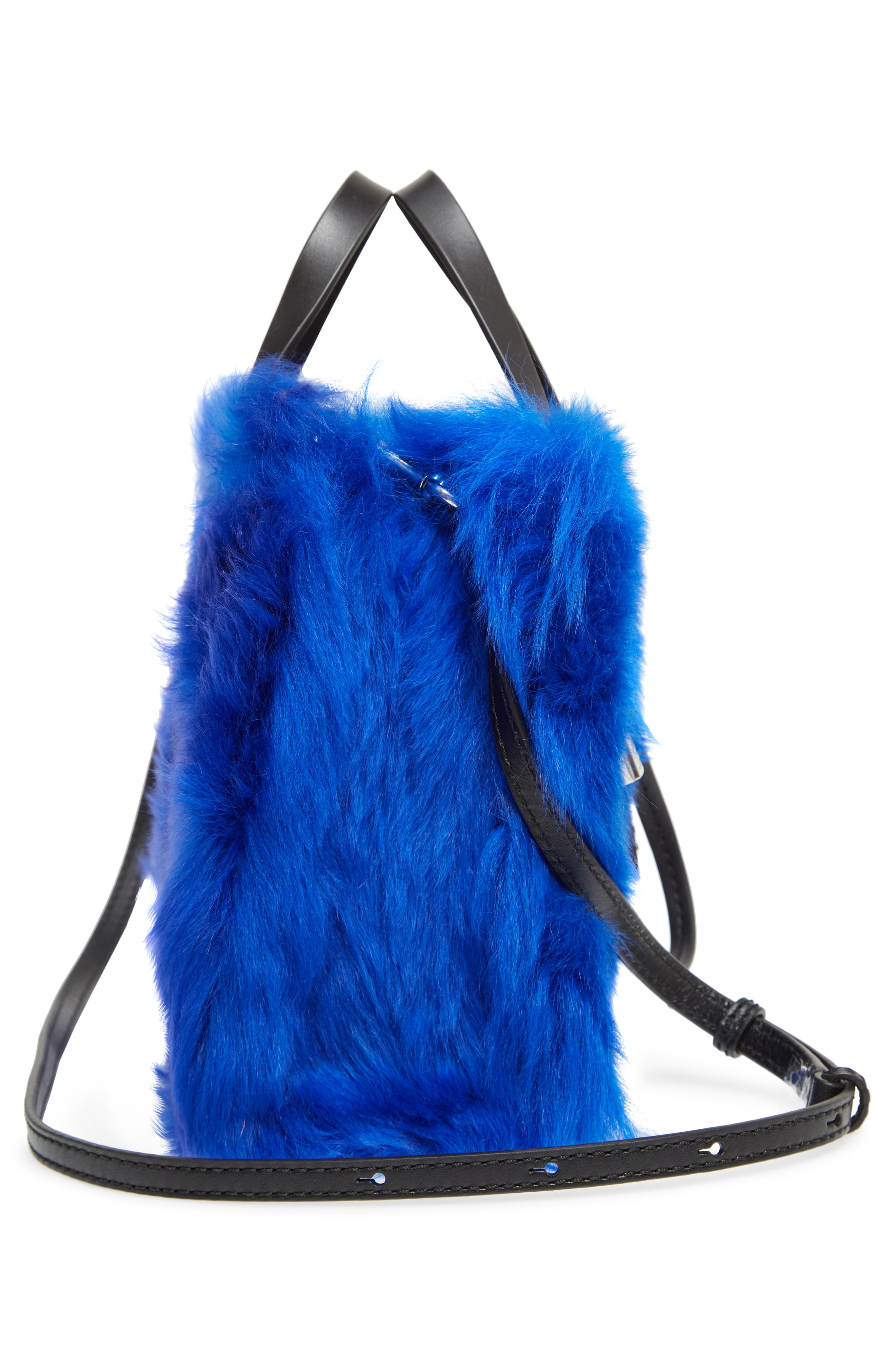 Mini The Grind Genuine Shearling Tote,                             Alternate thumbnail 5, color,