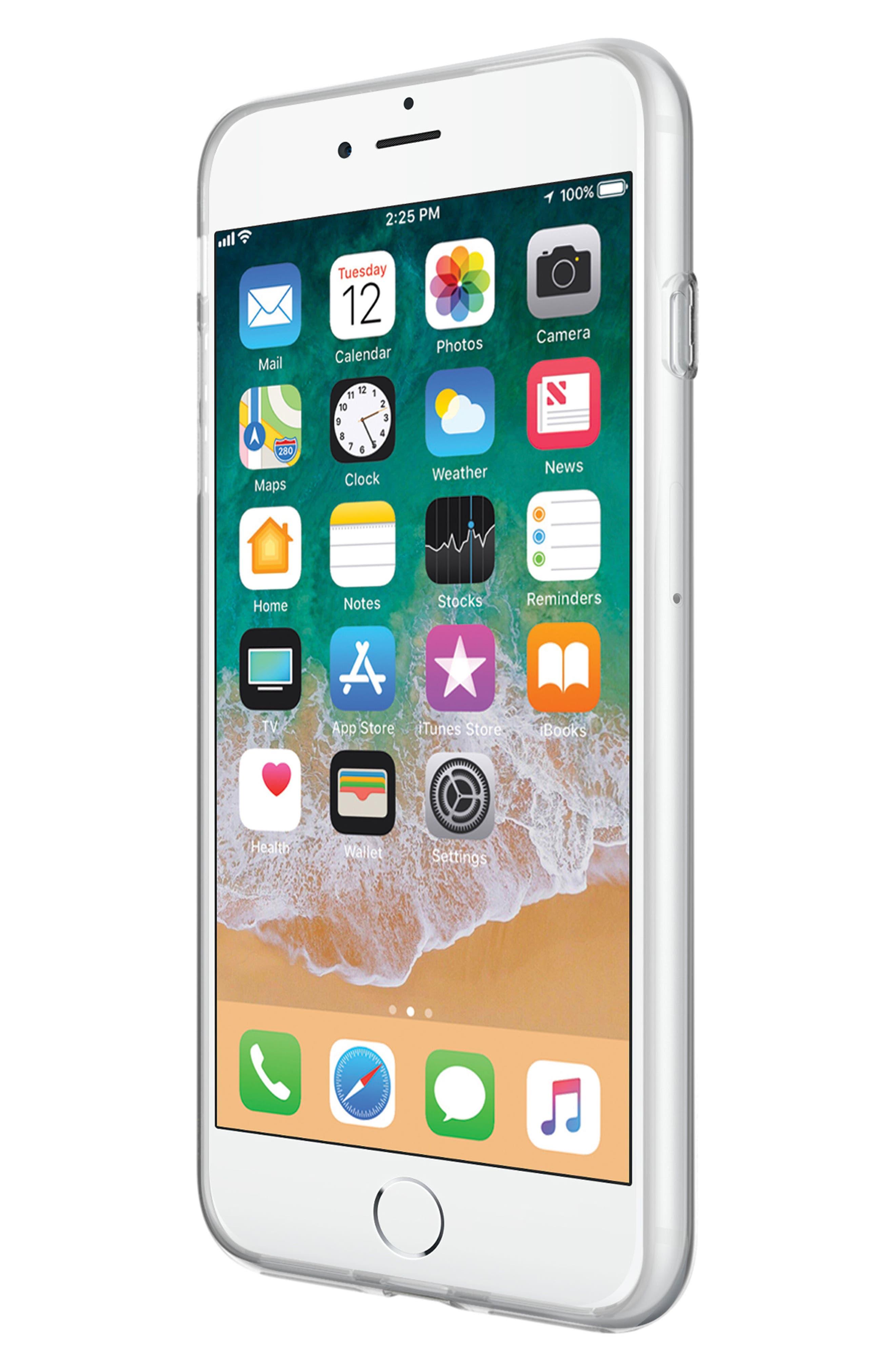 Flower Stud iPhone 7/8 & 7/8 Plus Case,                             Alternate thumbnail 5, color,                             ROSE GOLD/ GOLD STUDS