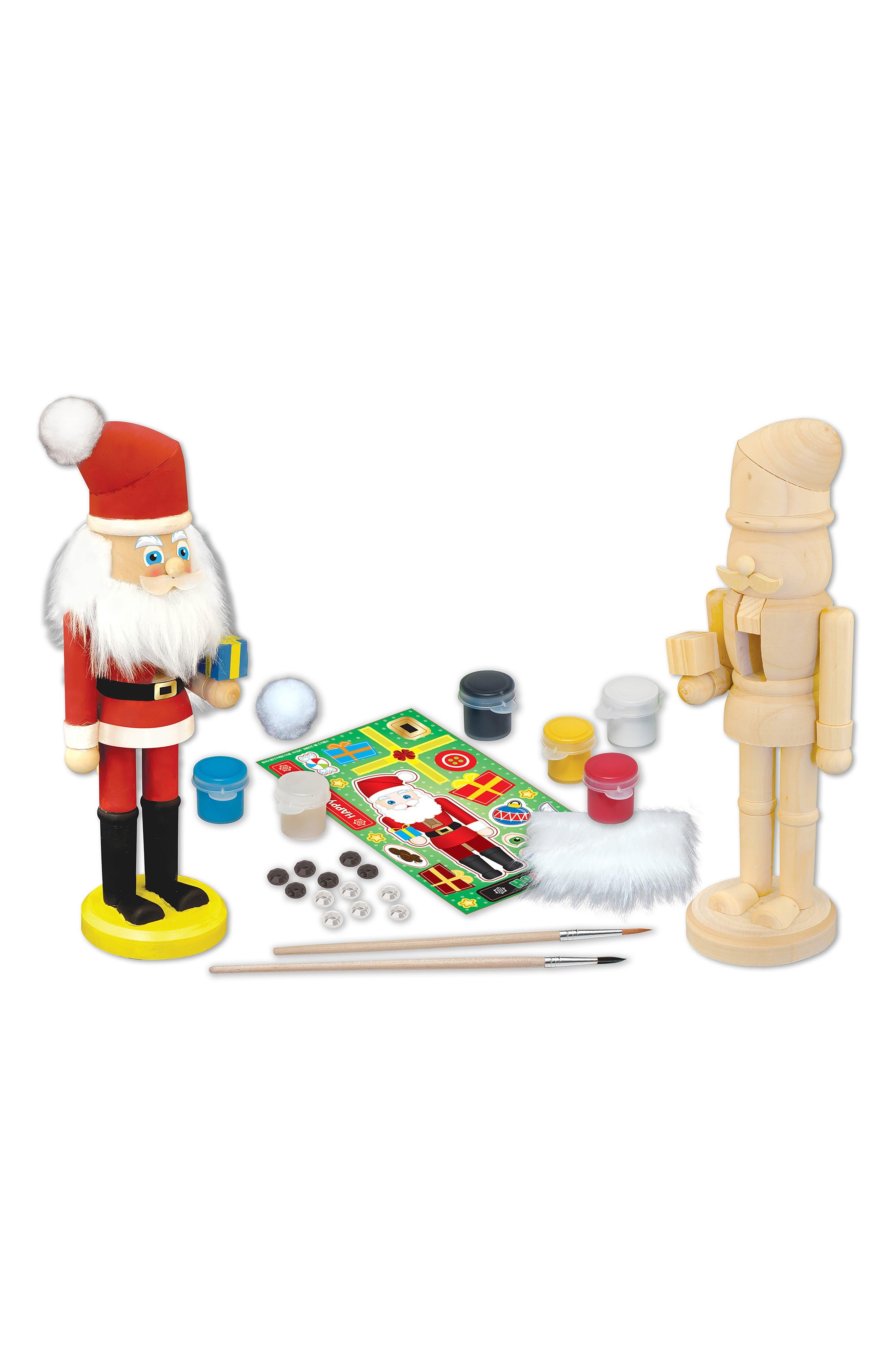 Nutcracker Santa Wood Craft & Paint Kit,                             Alternate thumbnail 2, color,                             960