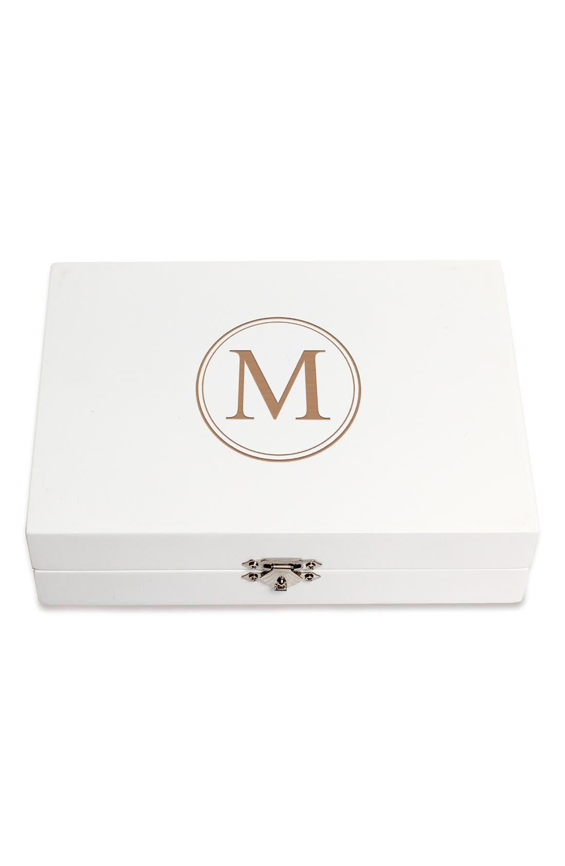 Monogram Wooden Jewelry Box,                             Main thumbnail 42, color,