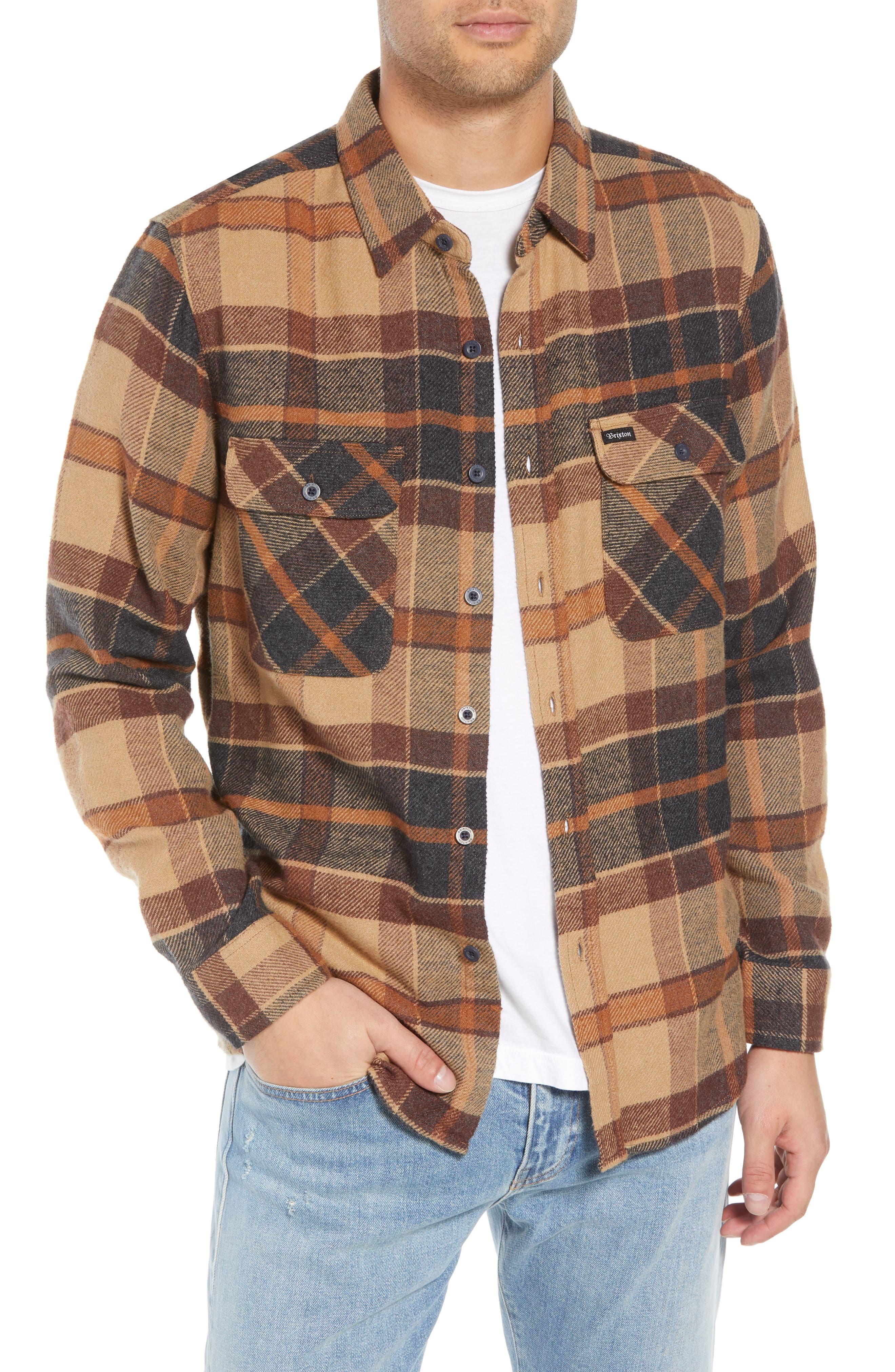 Bowery Flannel Shirt,                             Main thumbnail 4, color,