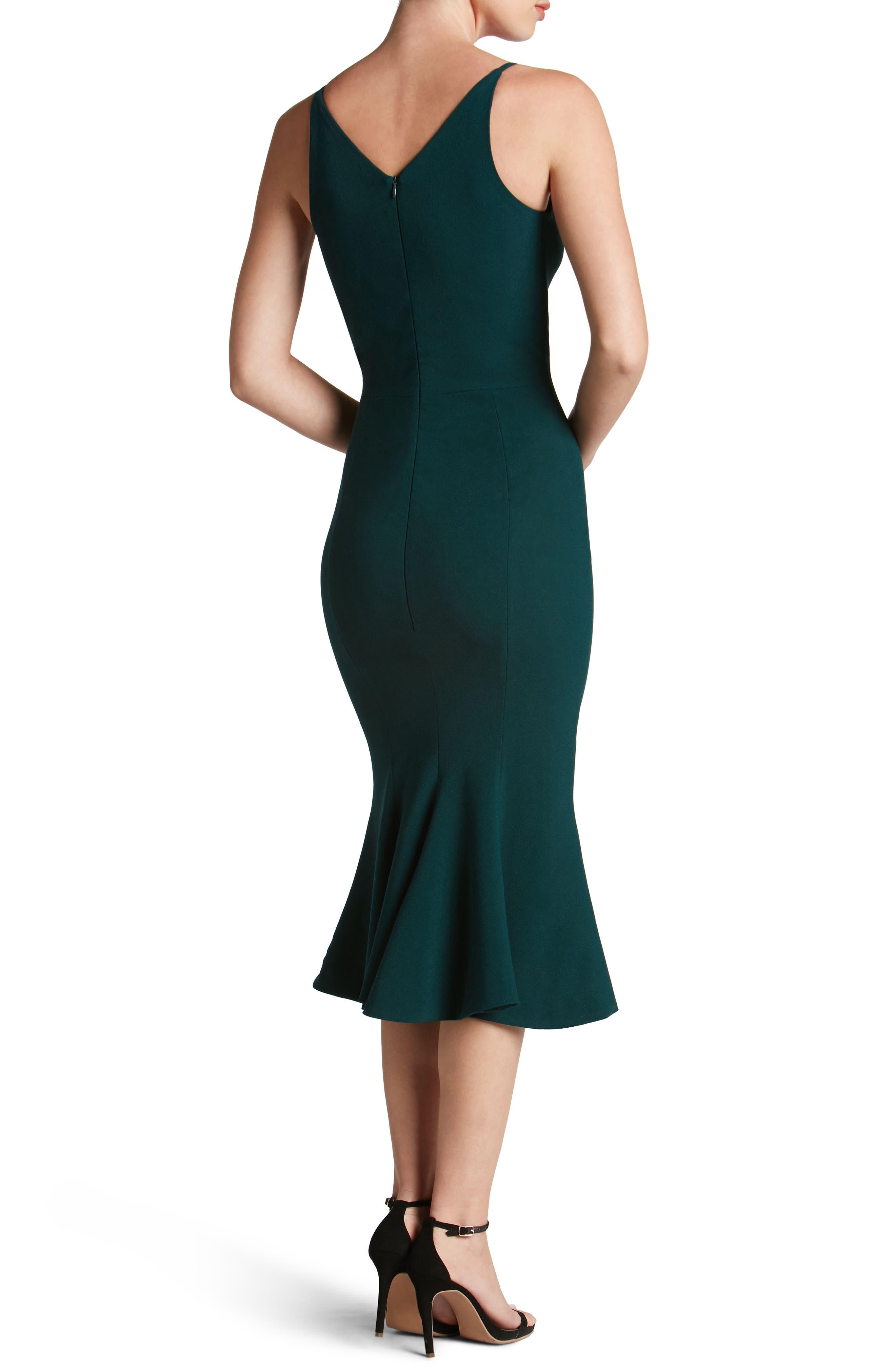 Isabelle Crepe Mermaid Dress,                             Alternate thumbnail 6, color,
