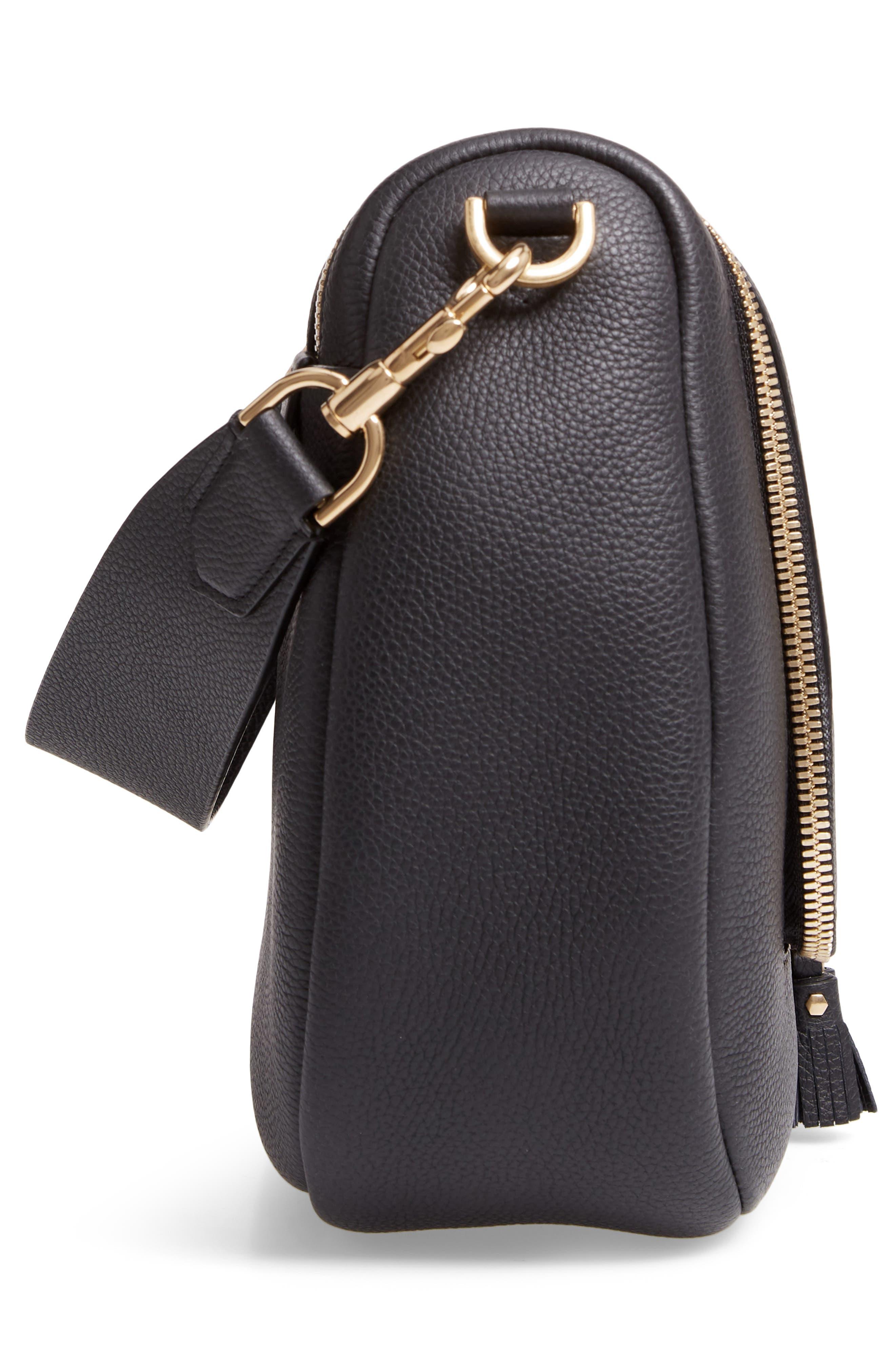 Maxi Vere Soft Satchel Shoulder Bag,                             Alternate thumbnail 6, color,                             BLACK