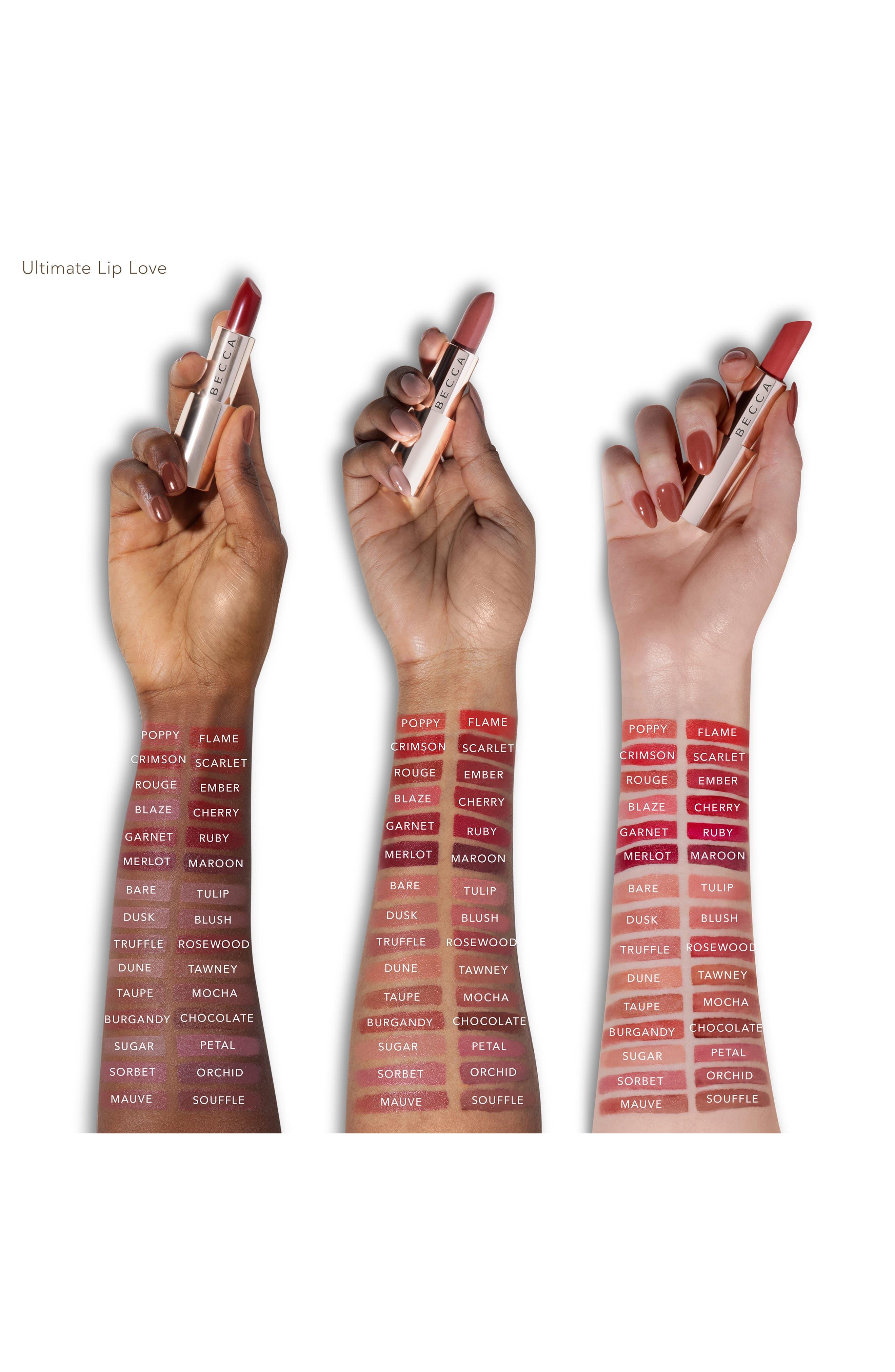 BECCA COSMETICS,                             BECCA Ultimate Lipstick Love,                             Alternate thumbnail 3, color,                             MOCHA