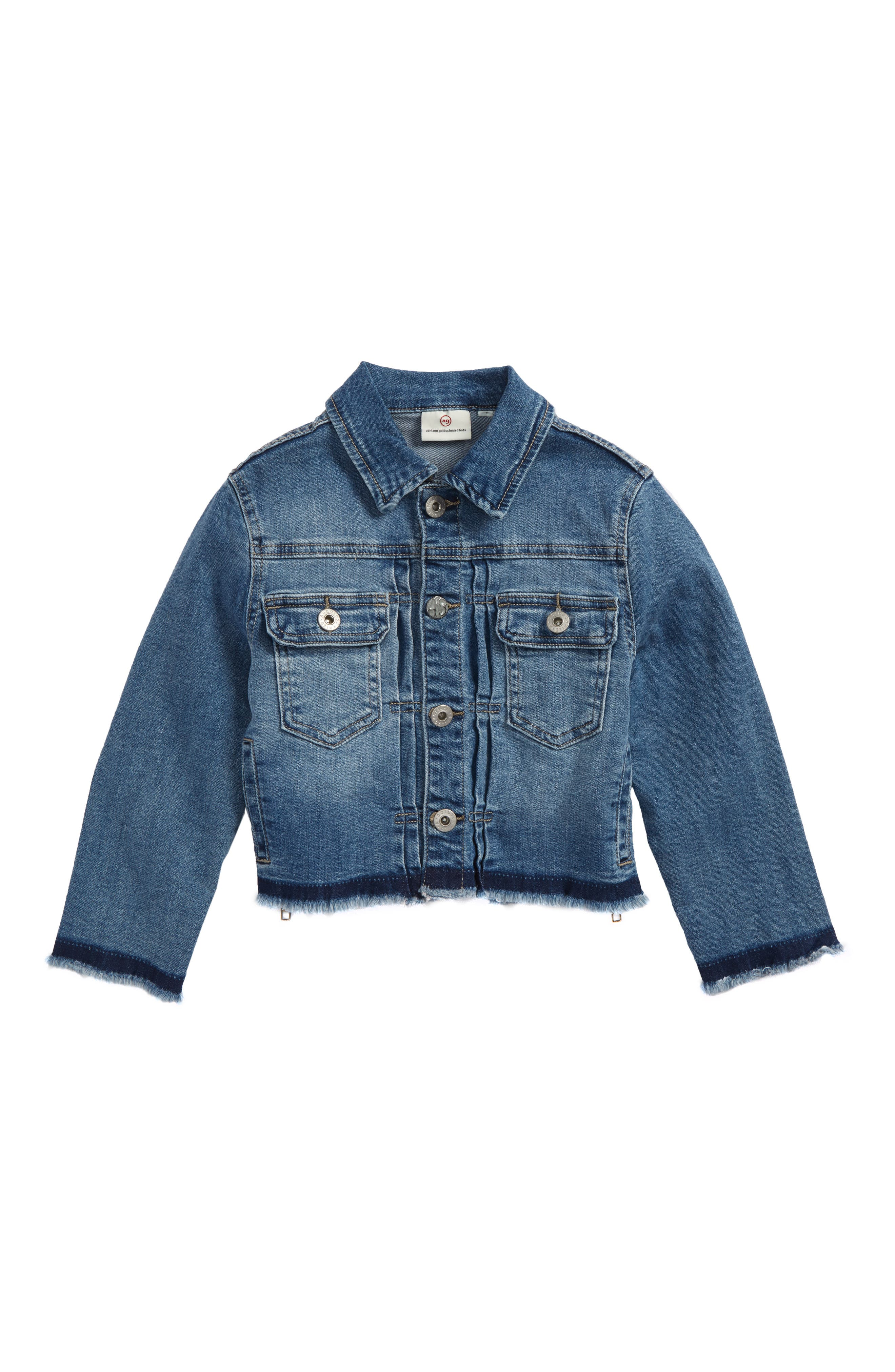 ag adriano goldscmhied kids Daize Denim Jacket,                             Main thumbnail 1, color,                             482