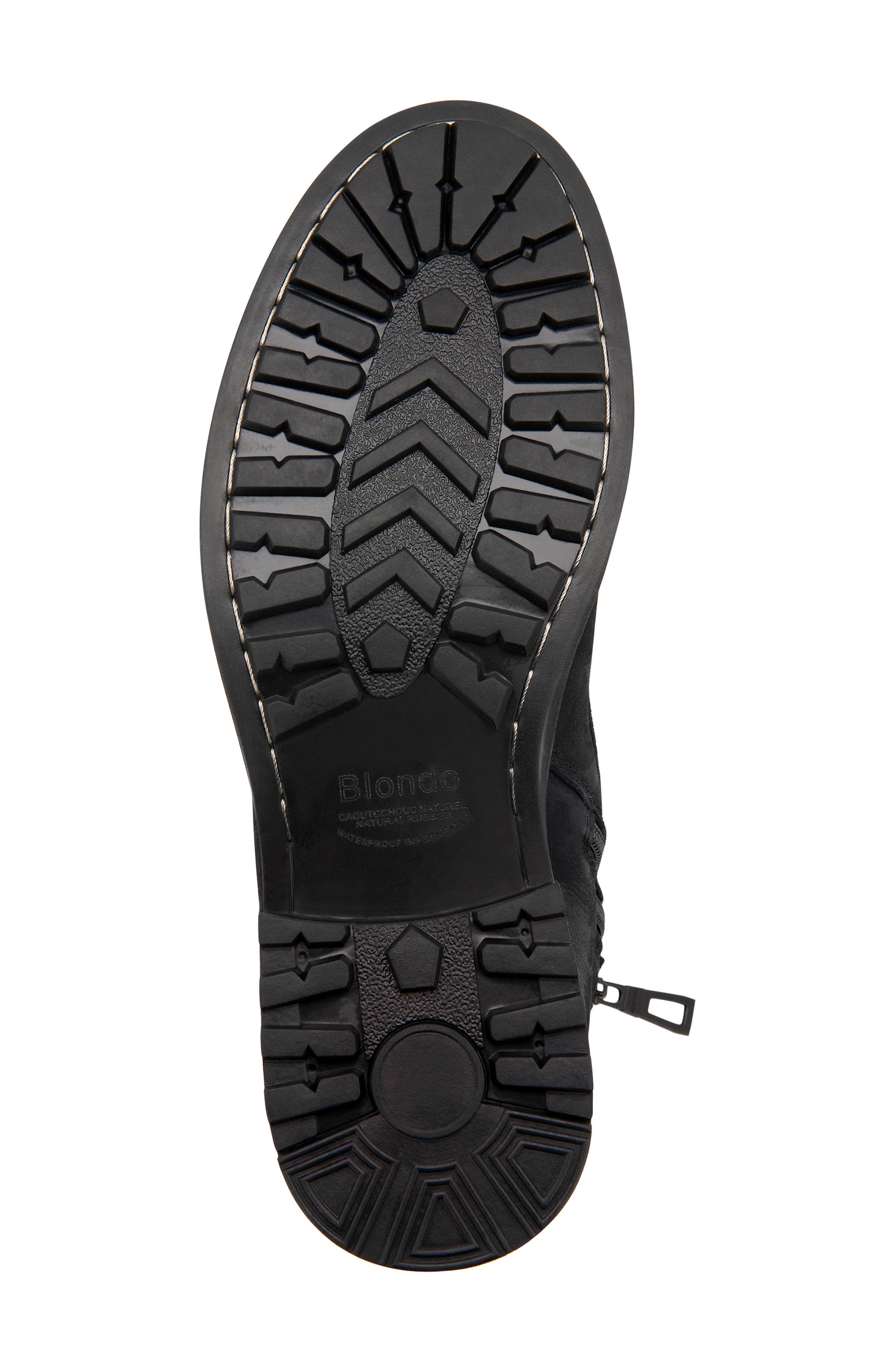 Patton Waterproof Plain Toe Boot,                             Alternate thumbnail 5, color,                             BLACK NUBUCK