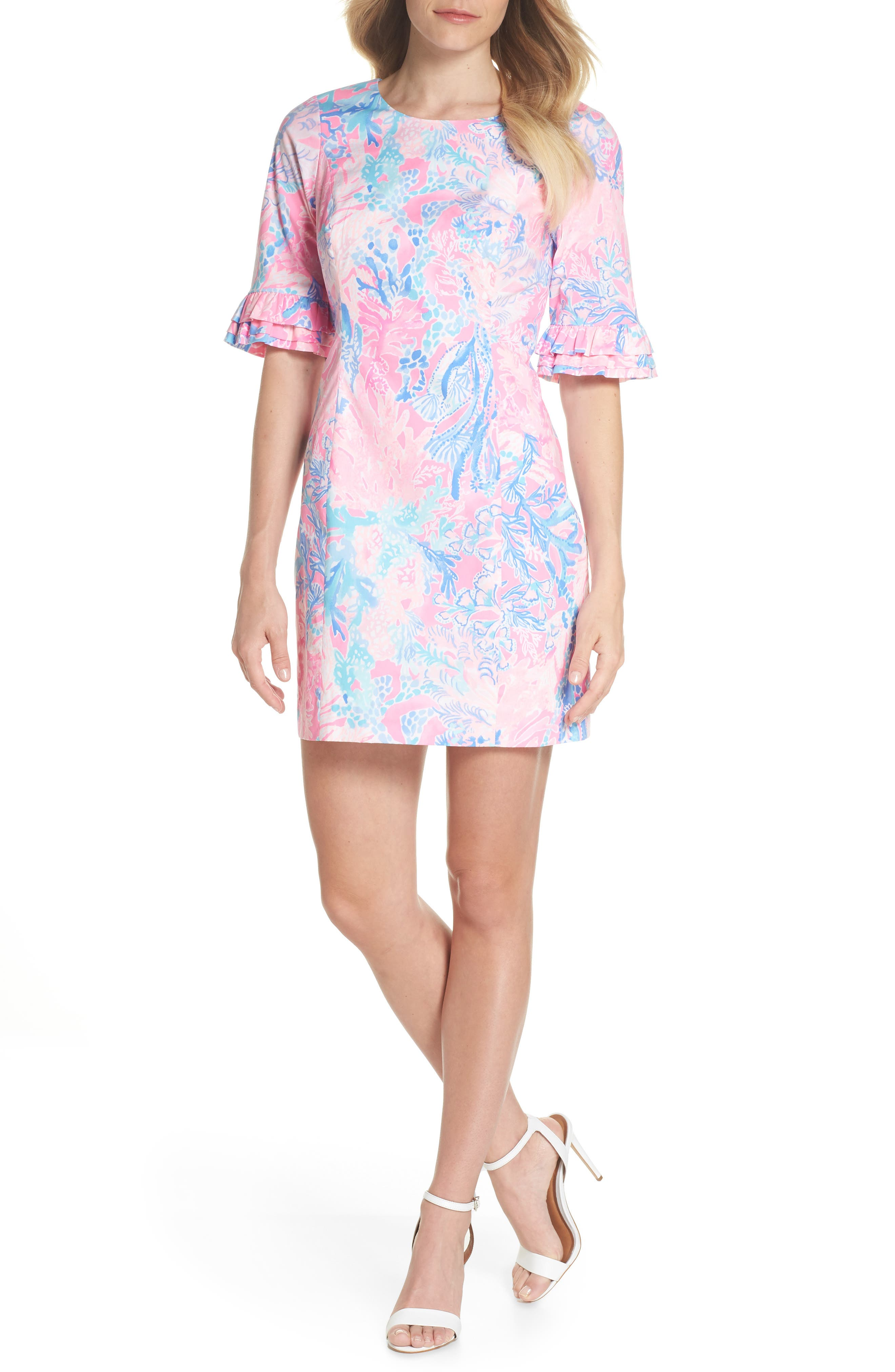 LILLY PULITZER<SUP>®</SUP>,                             Fiesta Stretch Sheath Dress,                             Alternate thumbnail 5, color,                             686