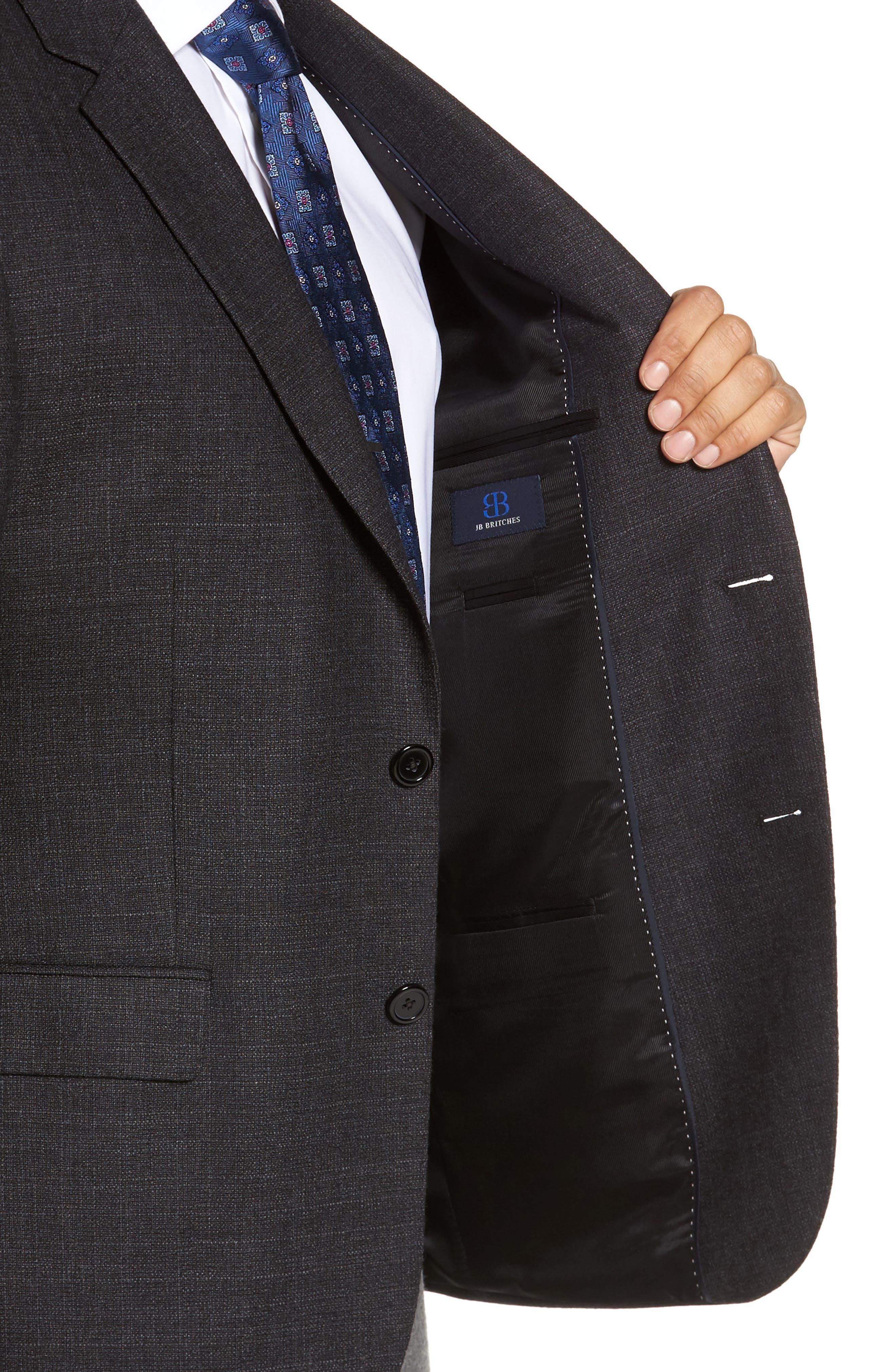 Classic Fit Wool Blazer,                             Alternate thumbnail 4, color,