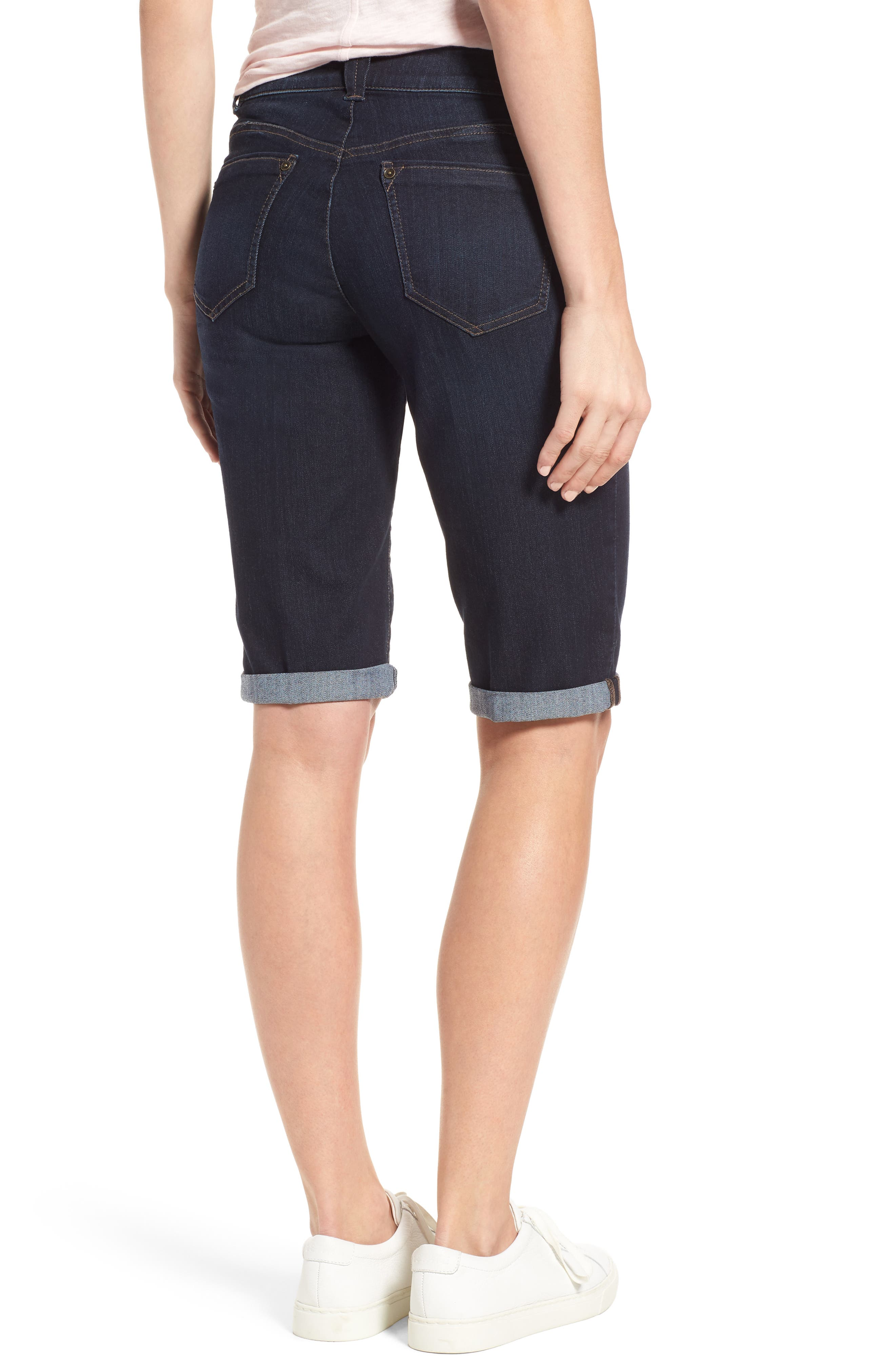 Ab-solution Denim Bermuda Shorts,                             Alternate thumbnail 2, color,
