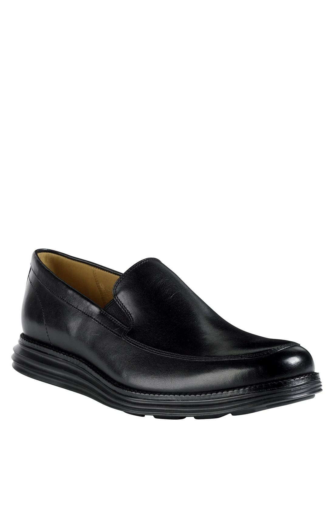 COLE HAAN,                             'LunarGrand' Apron Toe Loafer,                             Main thumbnail 1, color,                             001