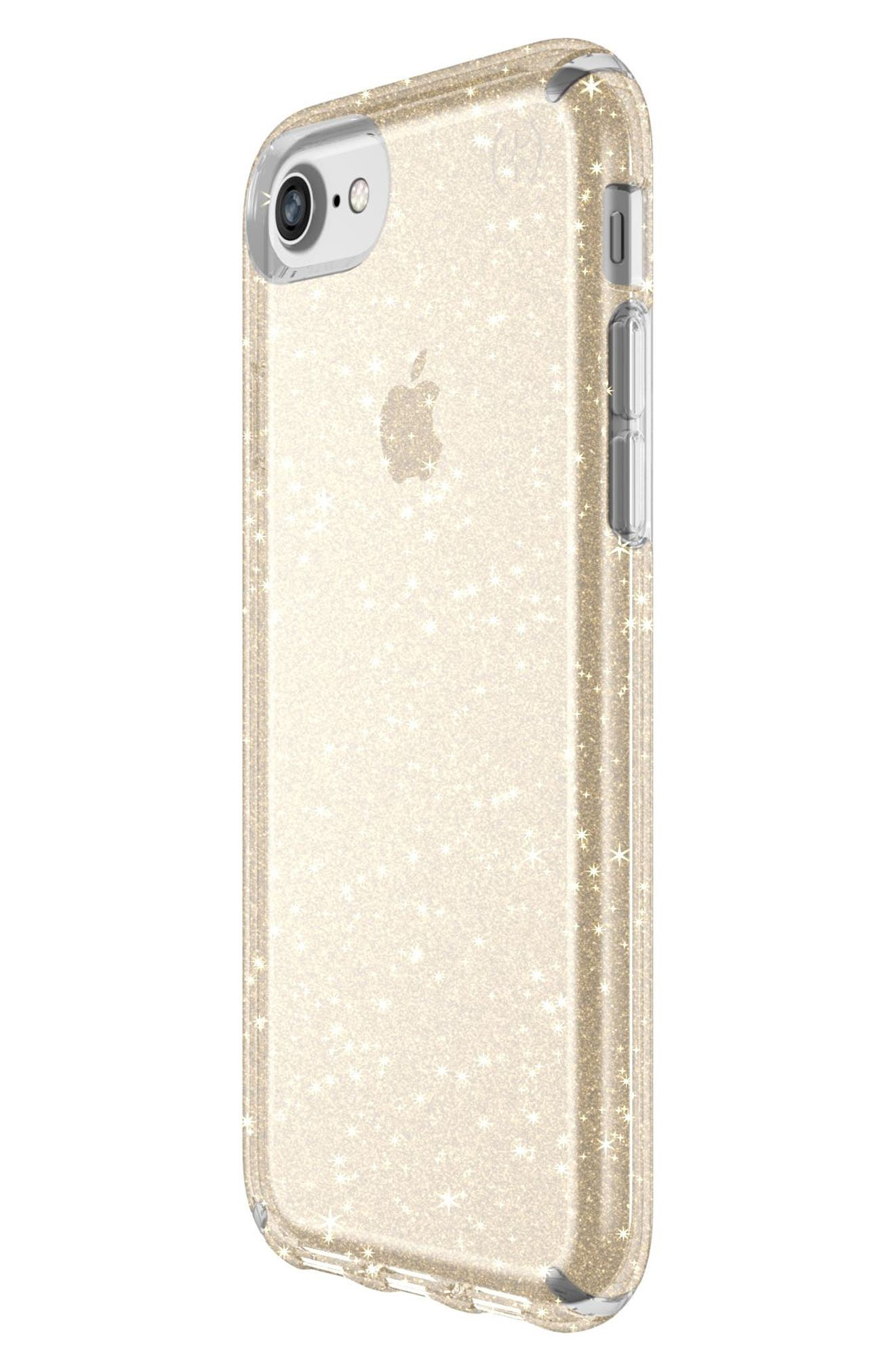 iPhone 6/6s/7/8 Case,                             Alternate thumbnail 6, color,                             CLEAR WITH GOLD GLITTER/ CLEAR