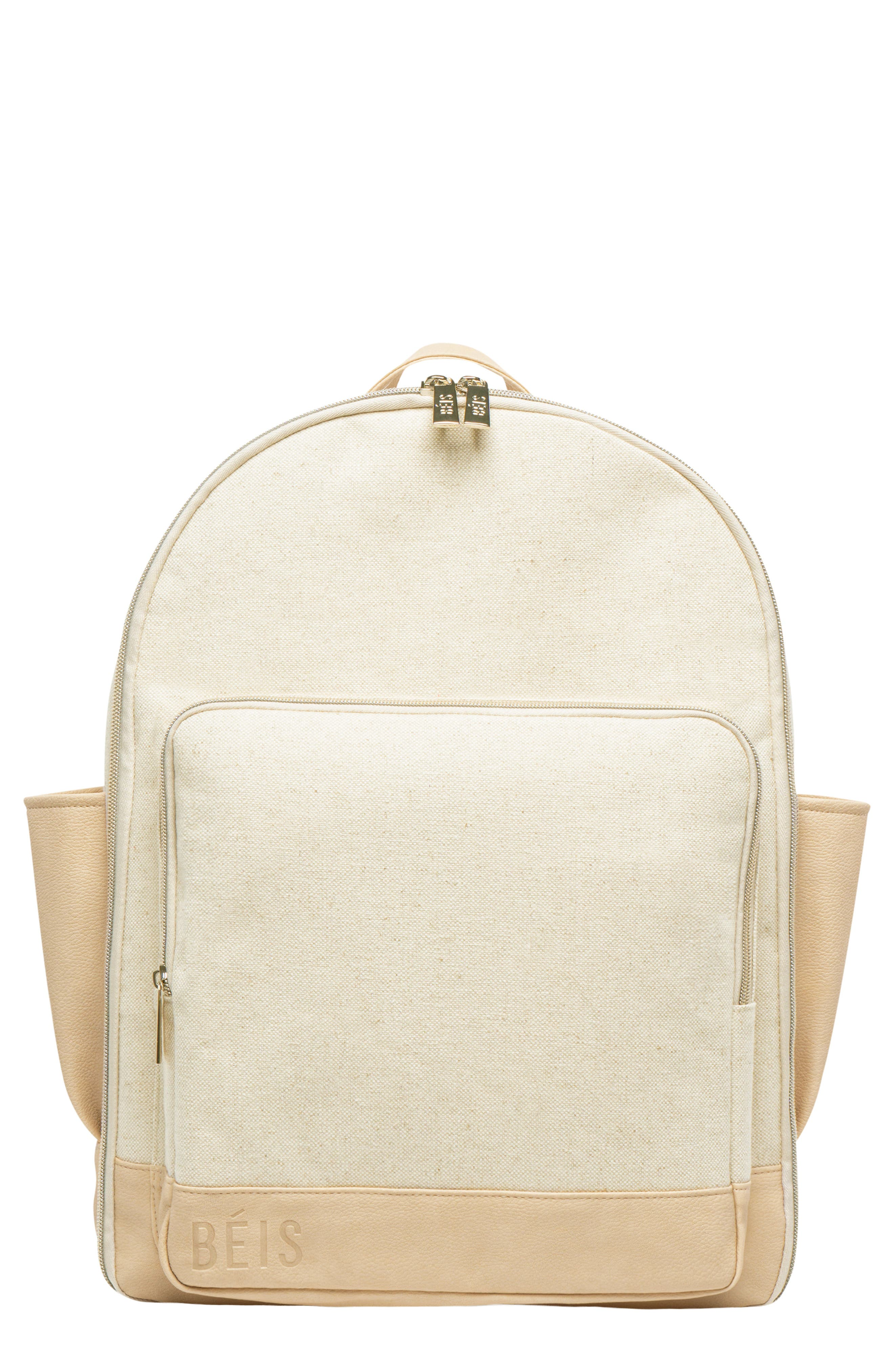 Travel Multi Function Travel Backpack,                             Main thumbnail 1, color,                             BEIGE