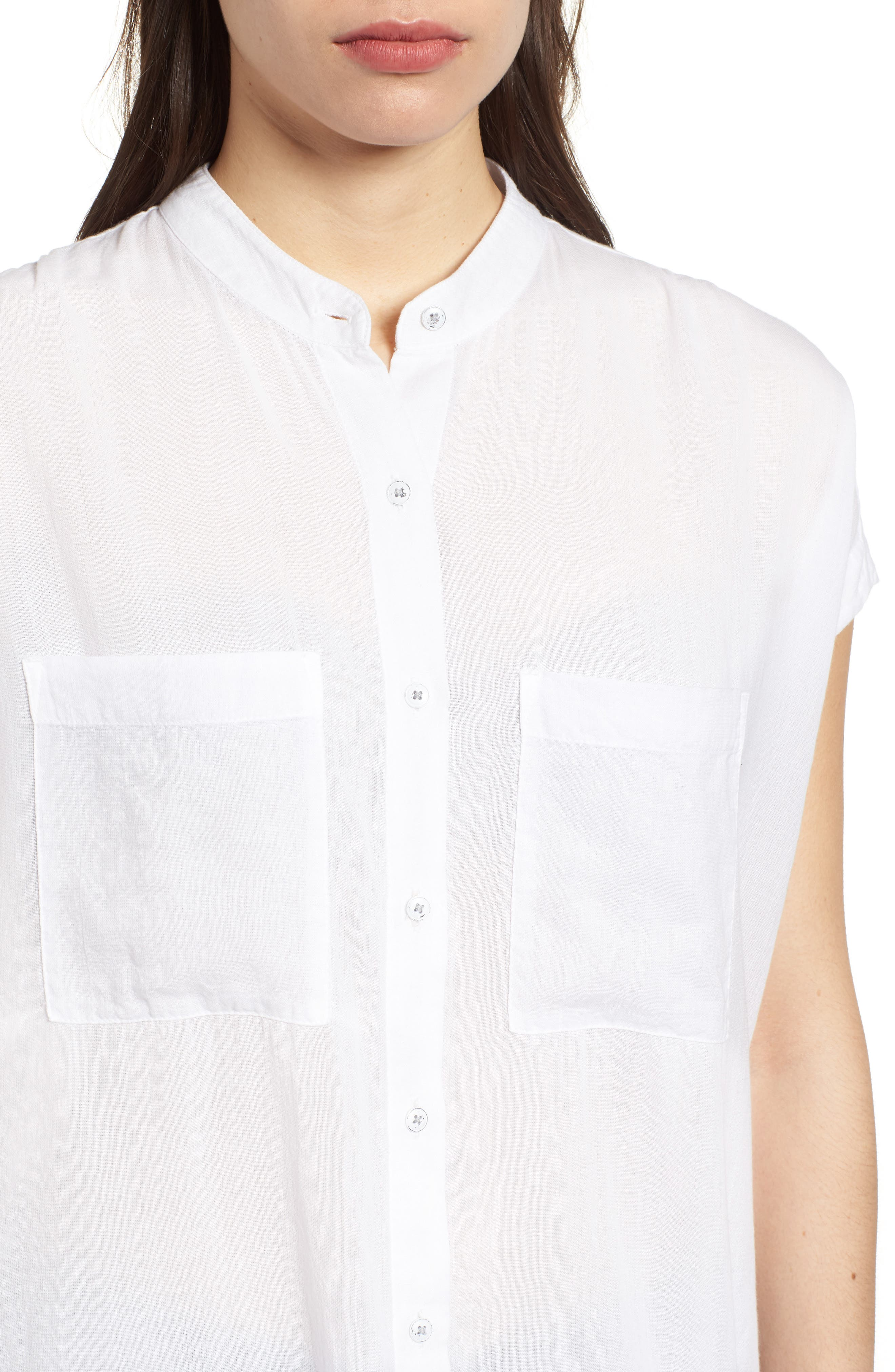 Button Front Longline Top,                             Alternate thumbnail 27, color,