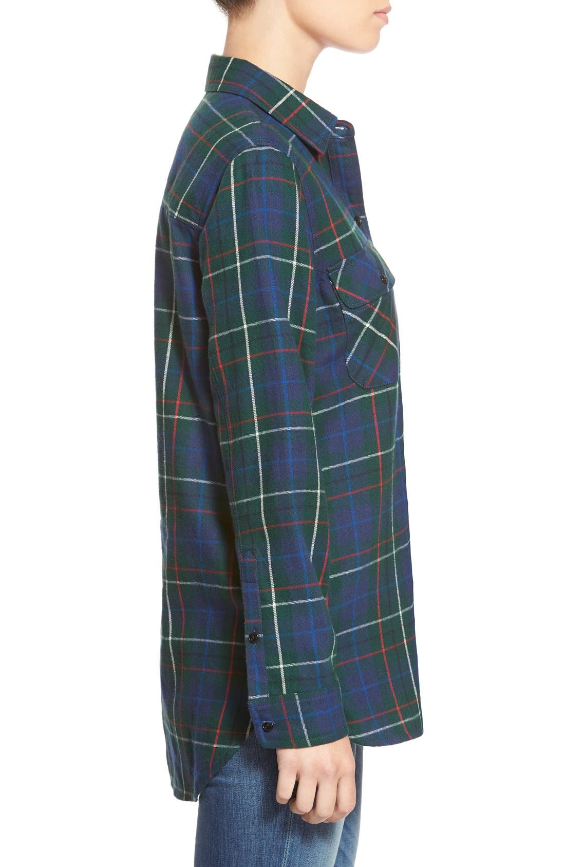 Ex Boyfriend - Ontario Plaid Flannel Shirt,                             Alternate thumbnail 3, color,