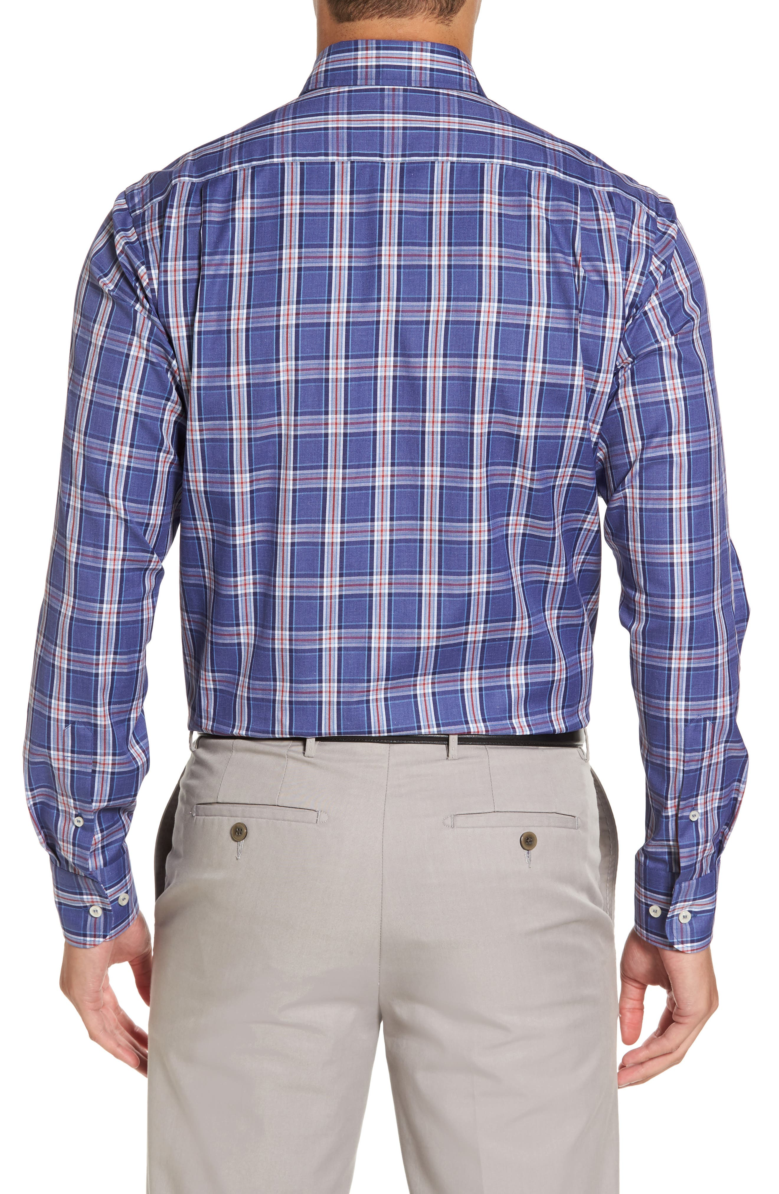 Paul&Shark Plaid Sport Shirt,                             Alternate thumbnail 2, color,                             400