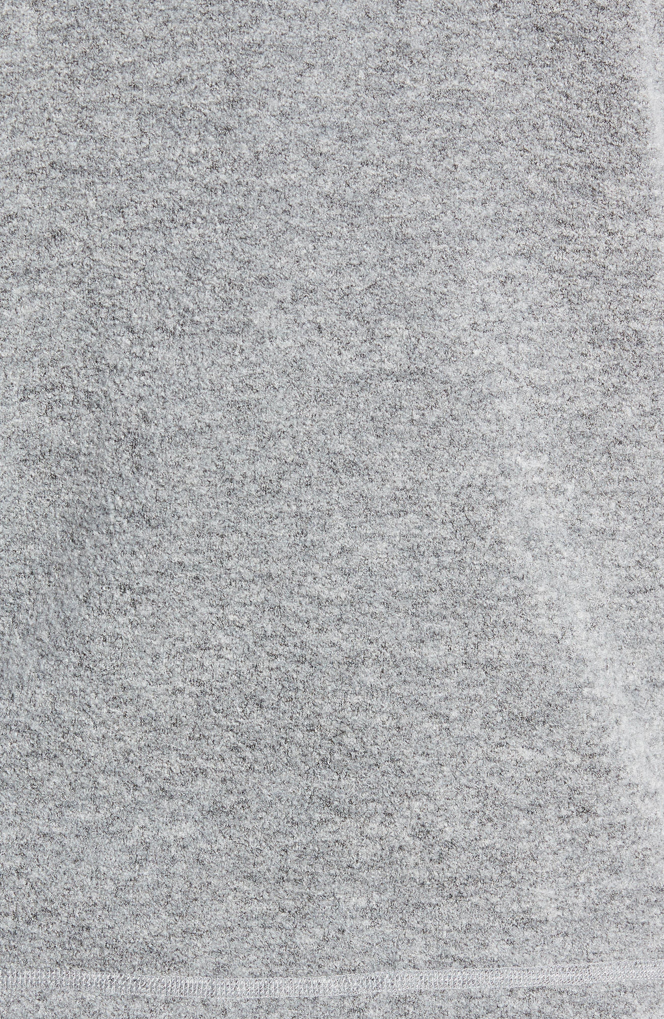Felted Wool Zip Hoodie,                             Alternate thumbnail 5, color,                             HEATHER GREY