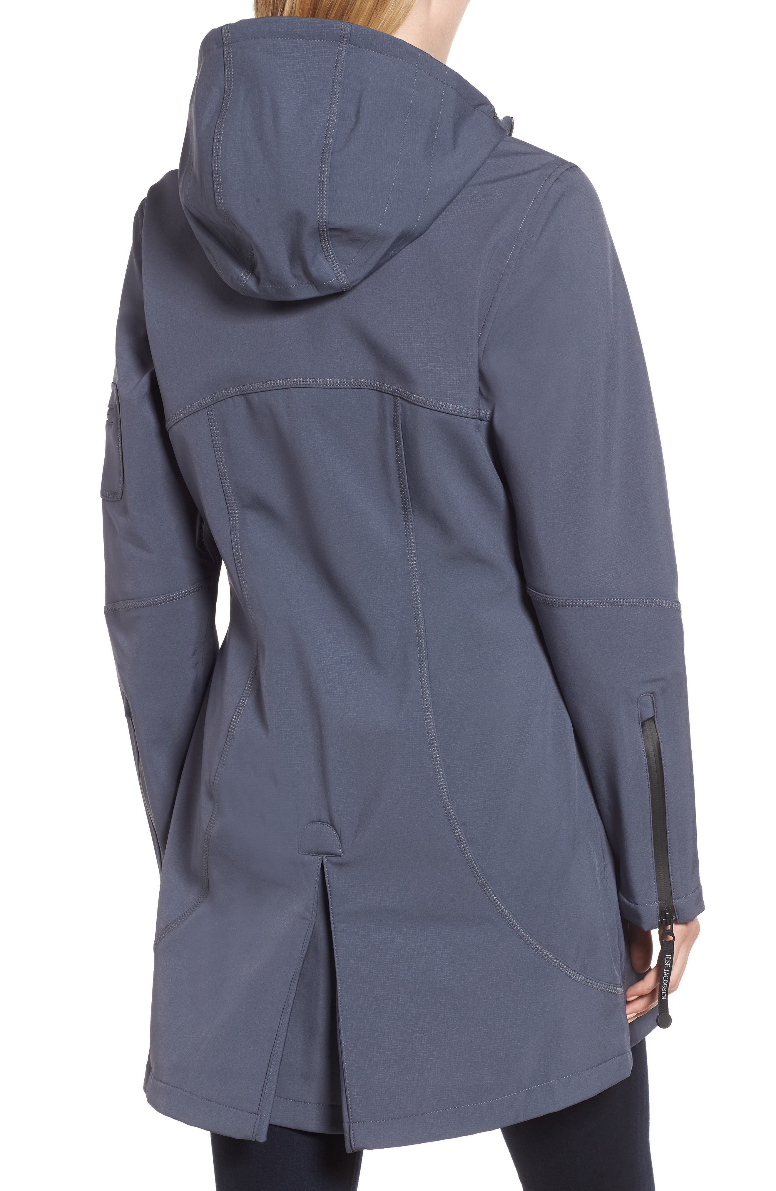 Rain 7 Hooded Water Resistant Coat,                             Alternate thumbnail 2, color,                             BLUE GRAYNESS