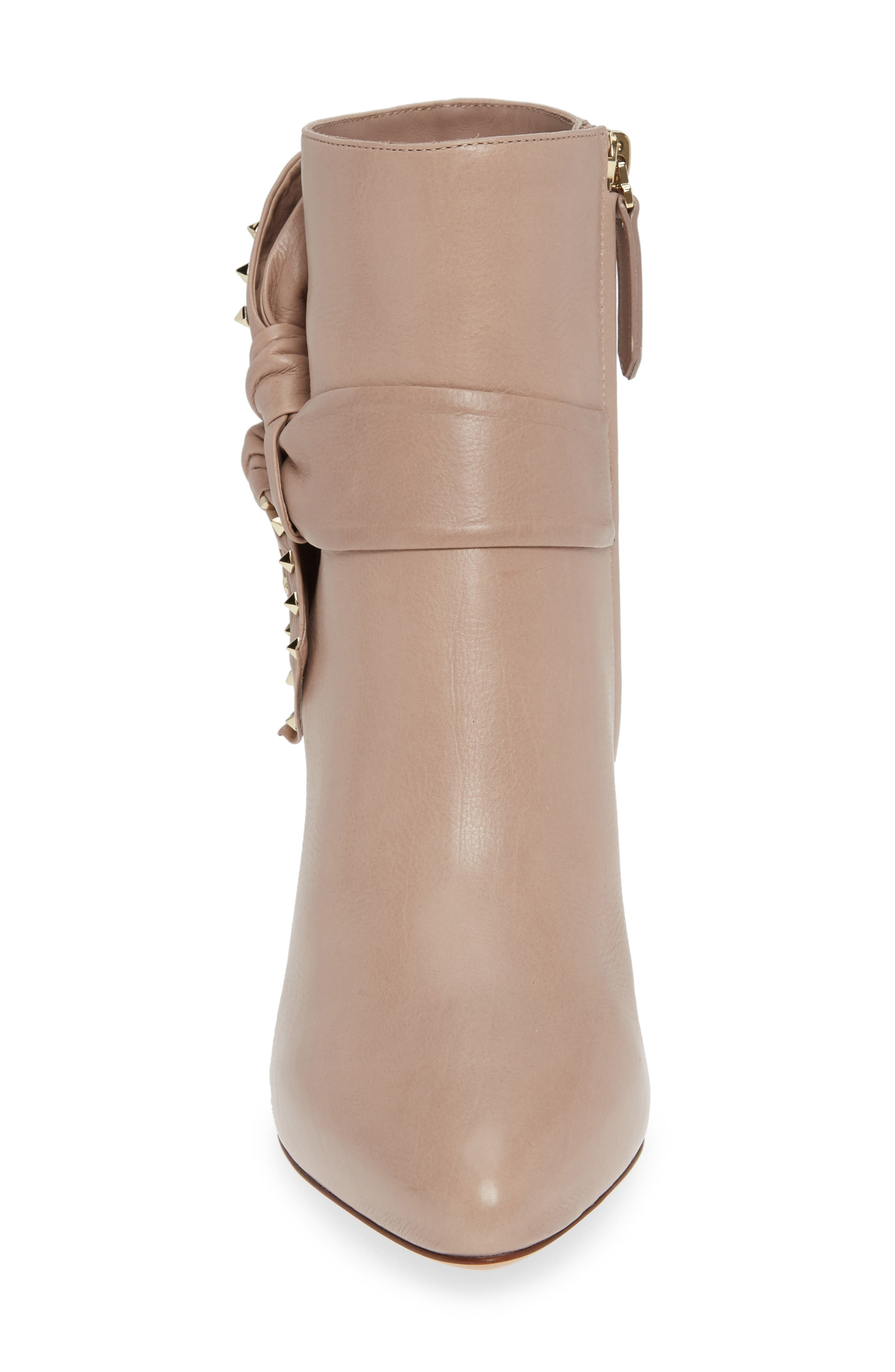 Studded Bow Ankle Bootie,                             Alternate thumbnail 4, color,                             250