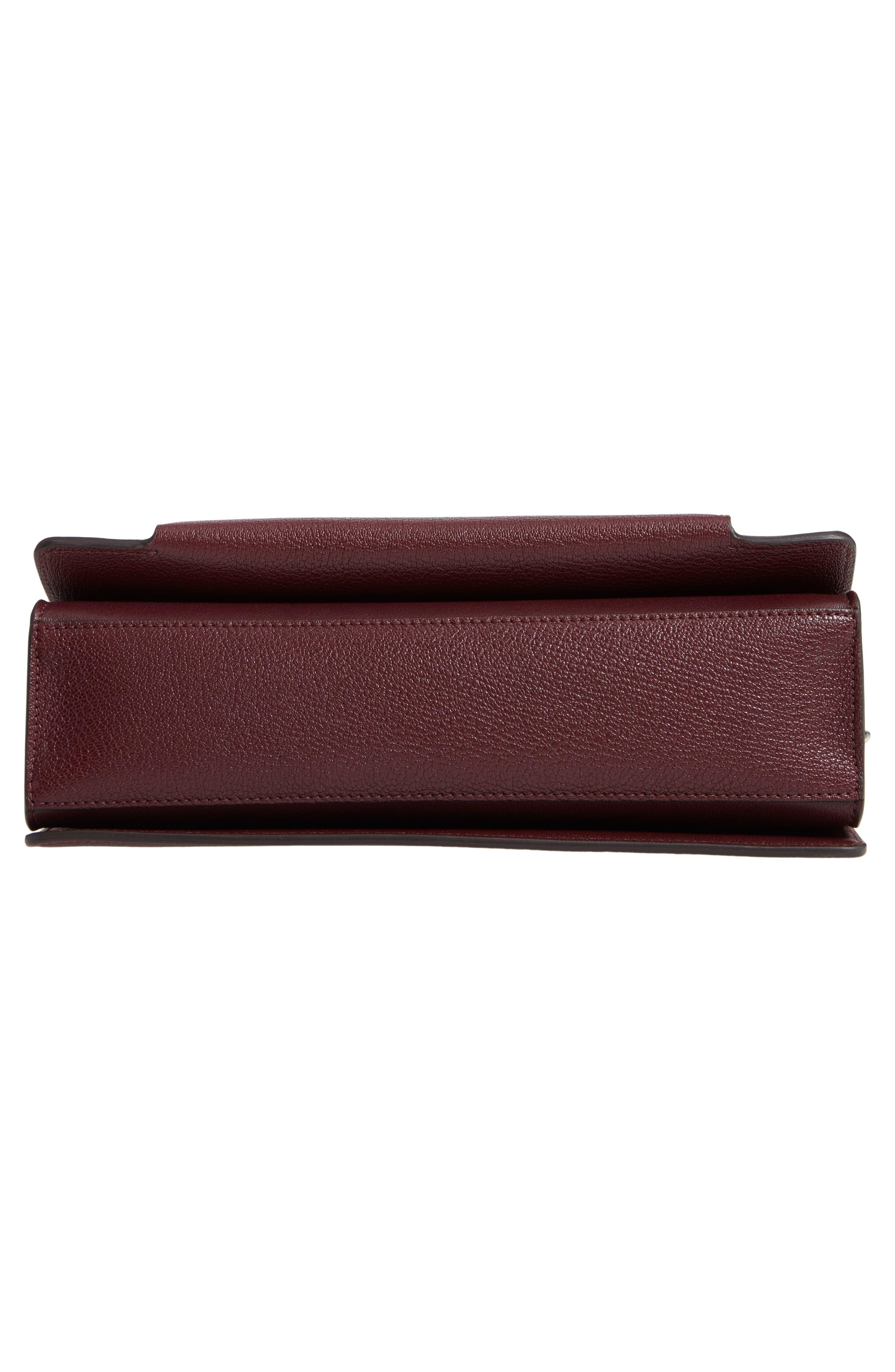 GV3 Goatskin Leather Shoulder Bag,                             Alternate thumbnail 6, color,                             AUBERGINE