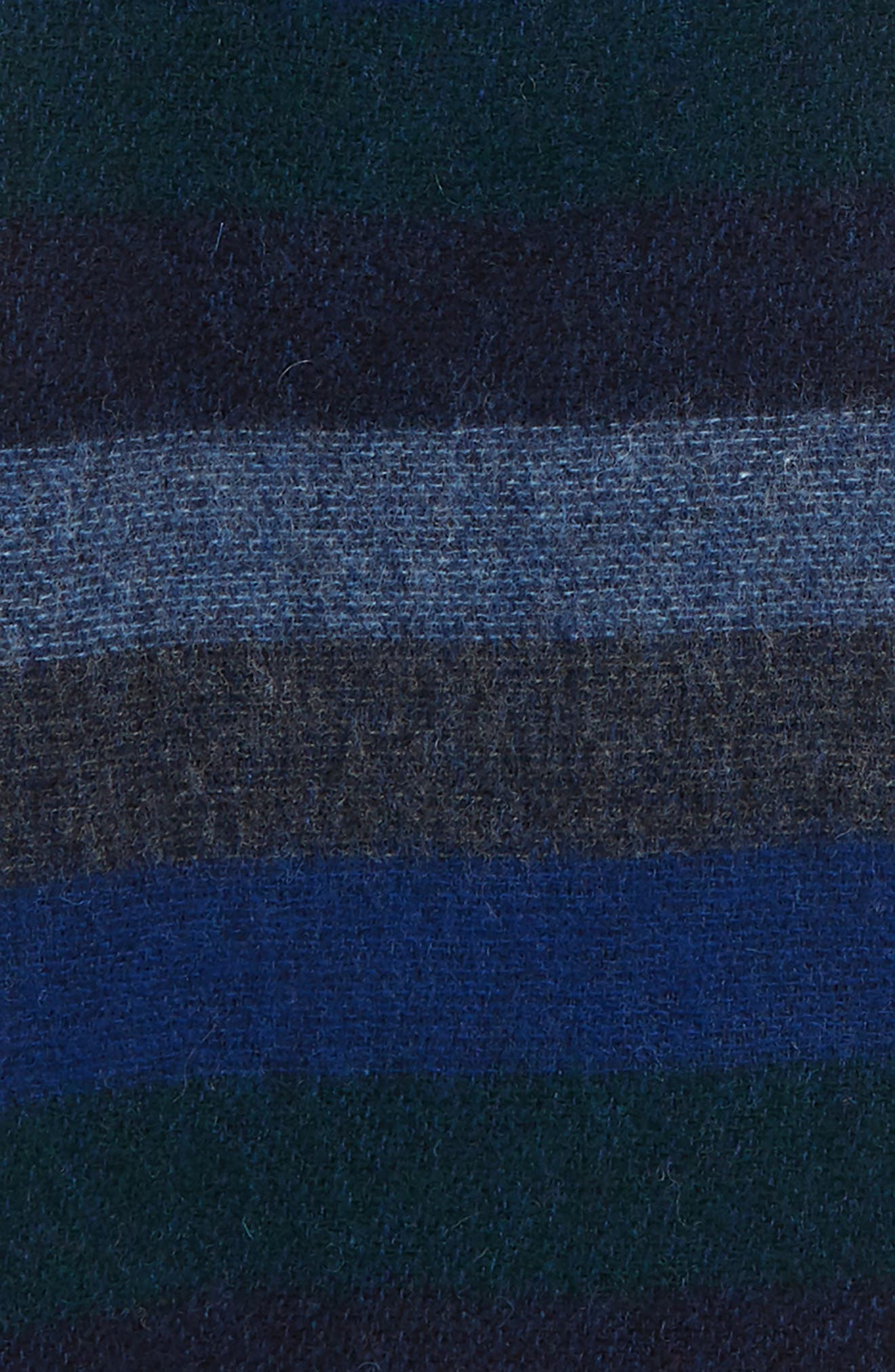Seaton Stripe Wool Scarf,                             Alternate thumbnail 3, color,                             NAVY/ DARK GREEN STRIPE