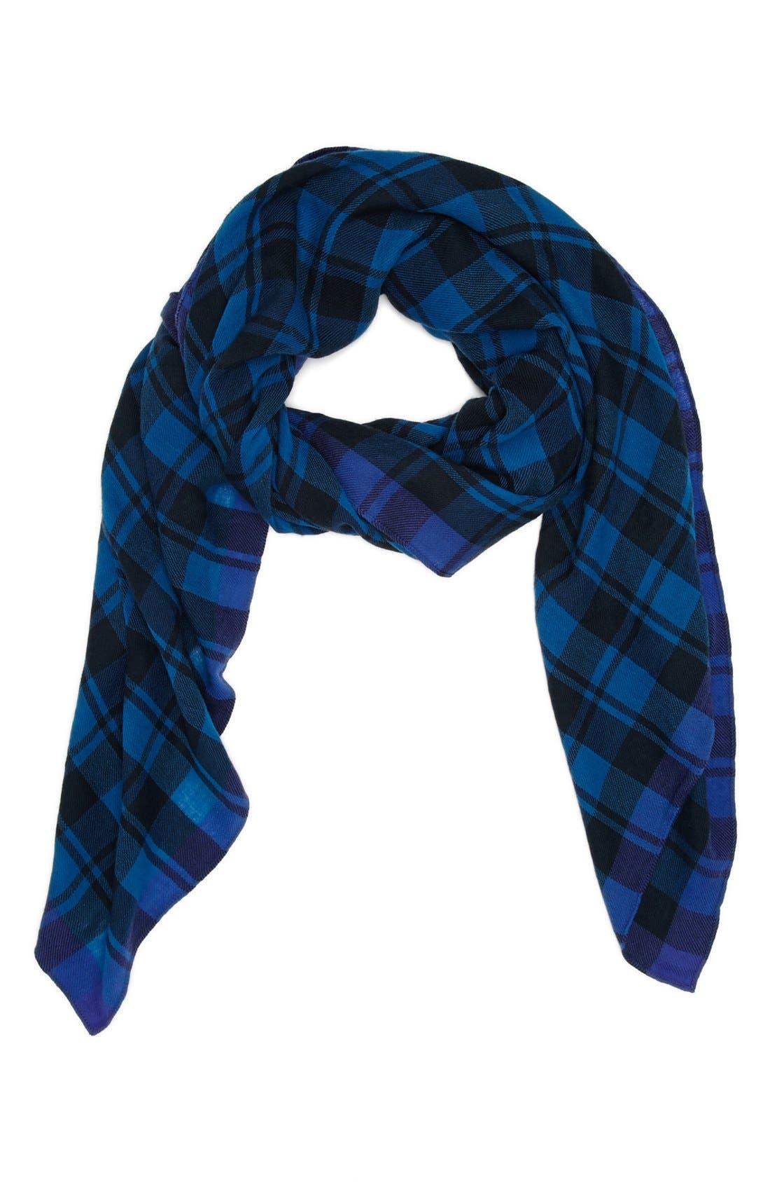 MARC JACOBS,                             MARC BY MARC JACOBS Plaid Scarf,                             Main thumbnail 1, color,                             400