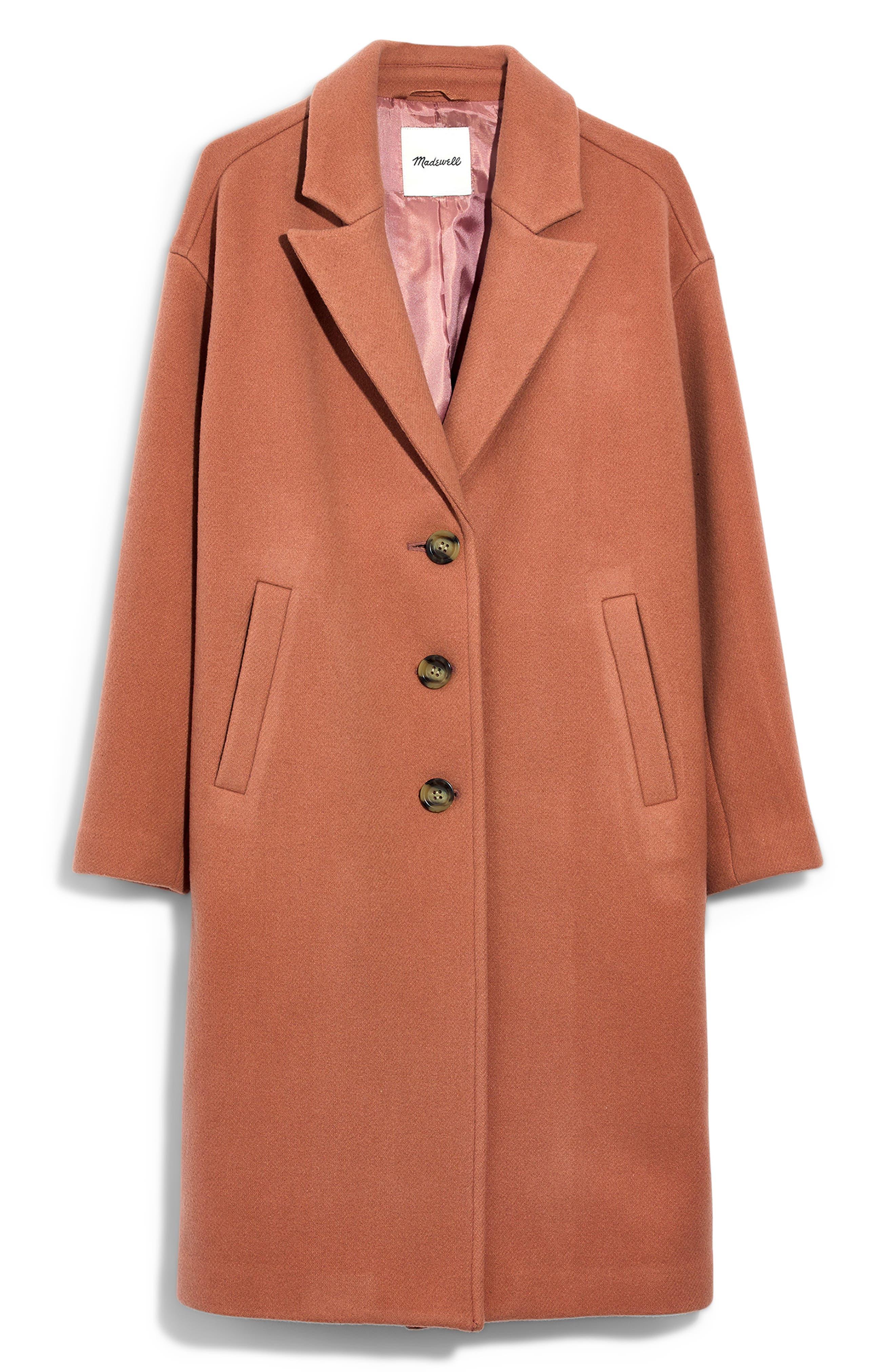 Bergen Cocoon Coat,                             Main thumbnail 1, color,                             ANTIQUE CORAL