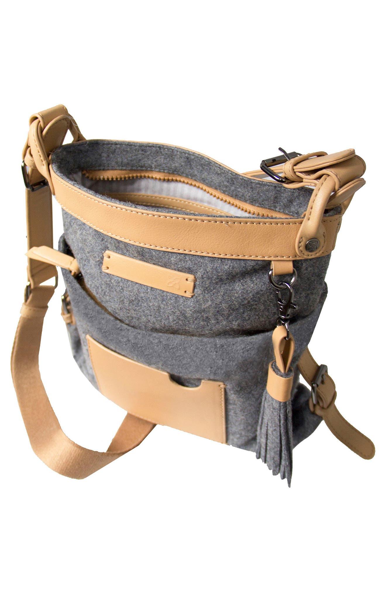 Luna Waxed Cotton Canvas Crossbody Bag,                             Alternate thumbnail 9, color,