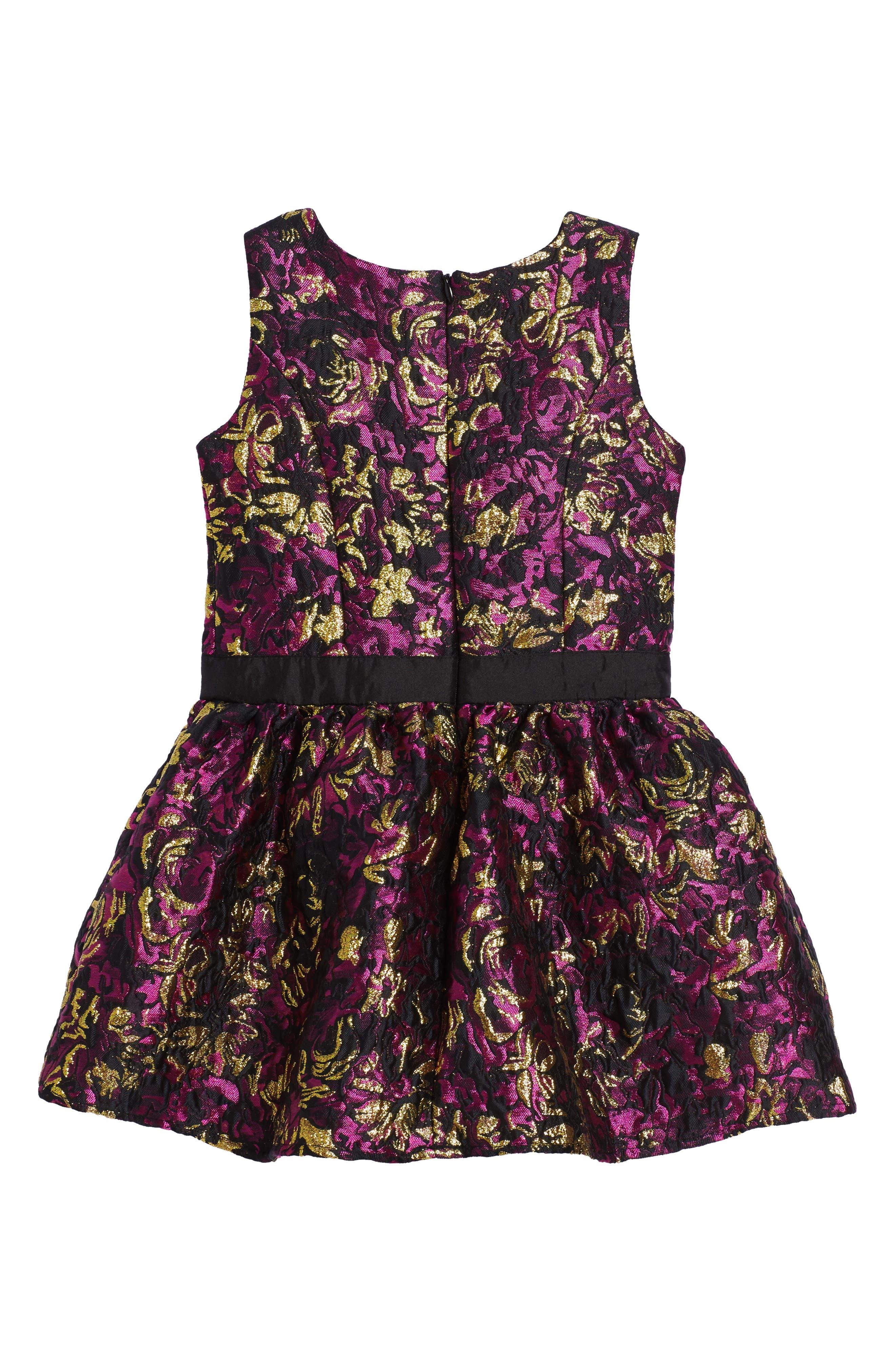 Floral Brocade Dress,                             Alternate thumbnail 2, color,