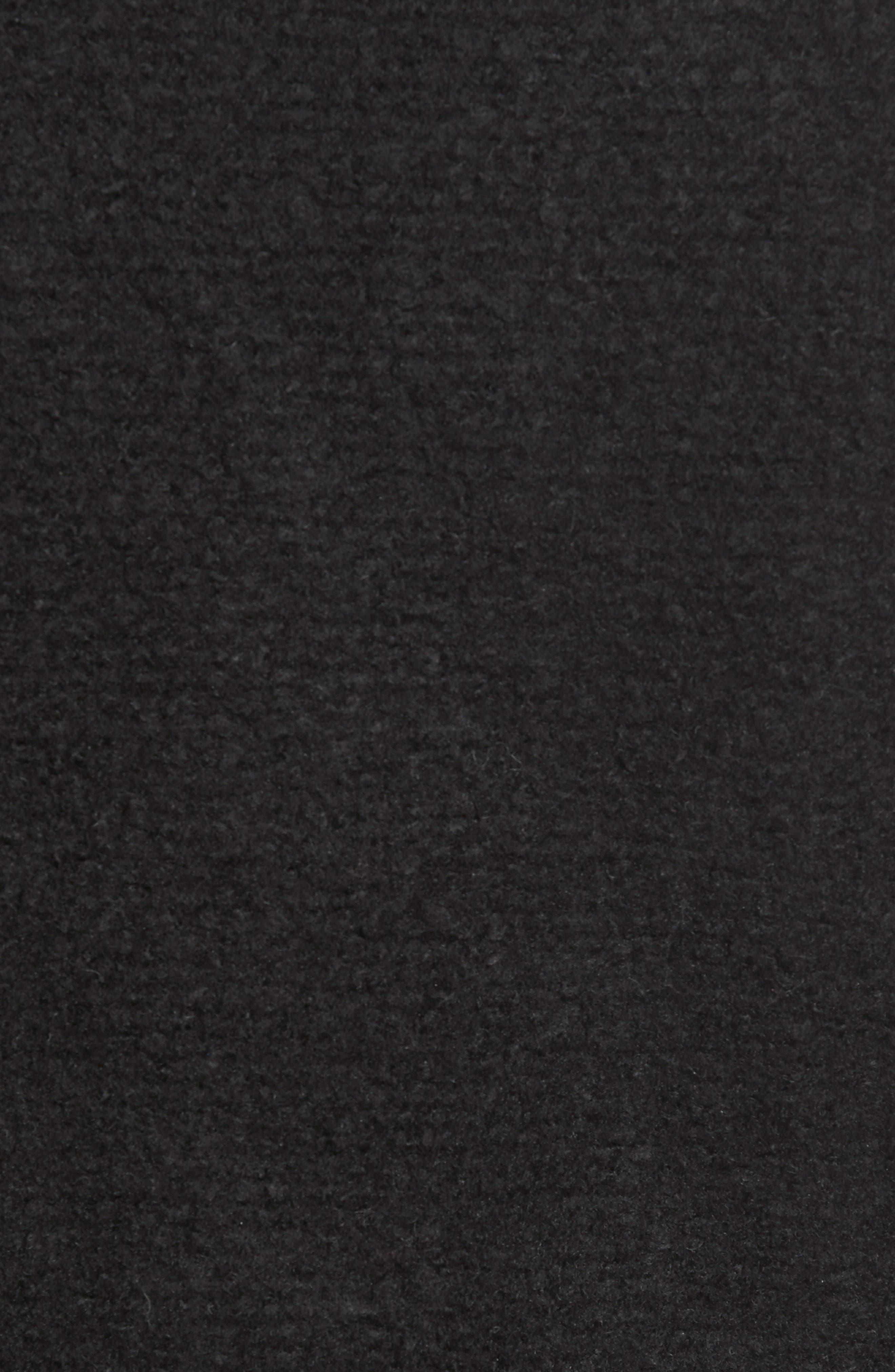 Knit Moto Jacket,                             Alternate thumbnail 7, color,                             BLACK