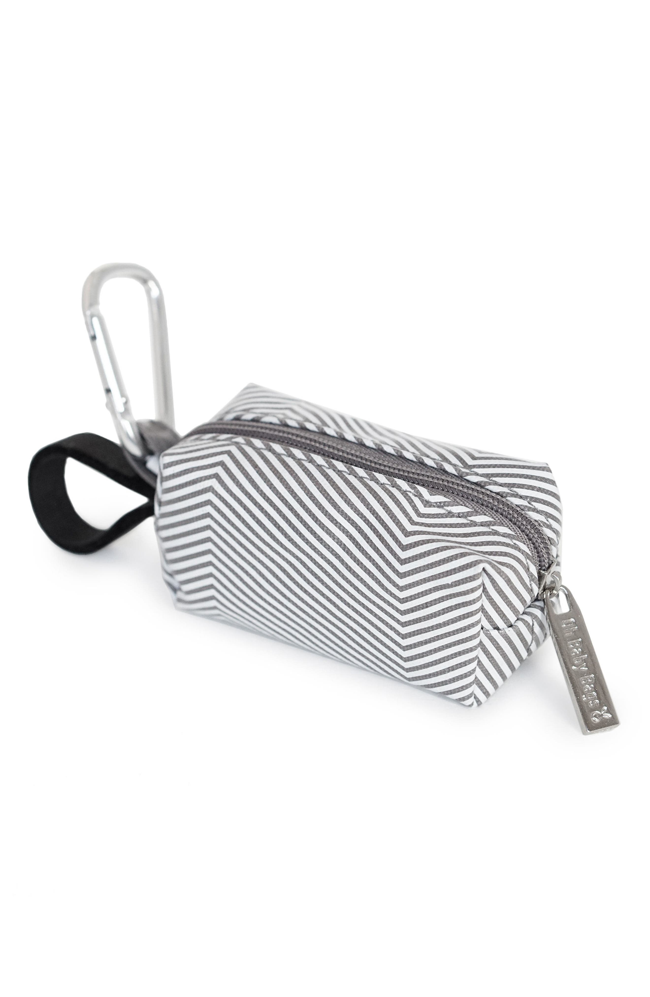 Portable Clip-On Dispenser with Bags,                             Main thumbnail 1, color,                             GREY STRIPE