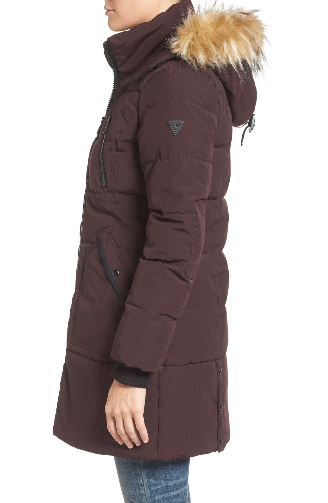 'Expedition' Quilted Parka with Faux Fur Trim,                             Alternate thumbnail 15, color,