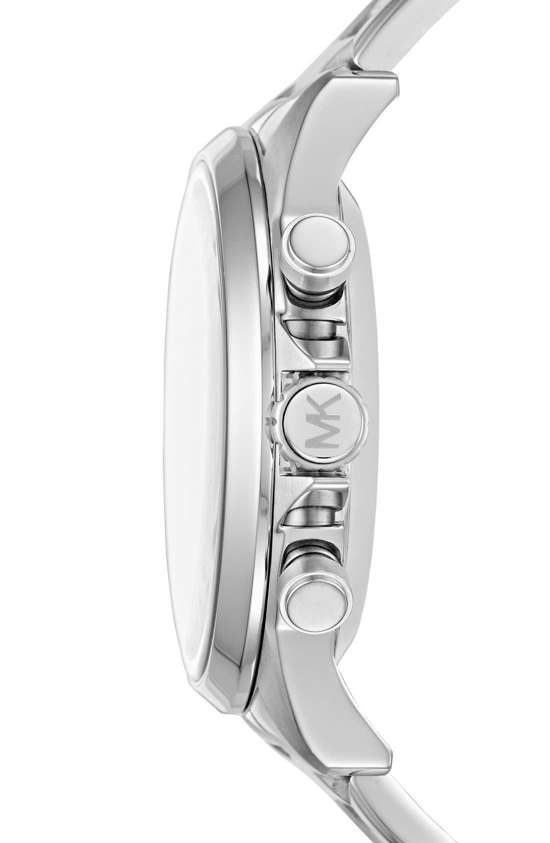 Michael Kors Gage Bracelet Smart Watch, 45mm,                             Alternate thumbnail 6, color,                             SILVER/ BLUE