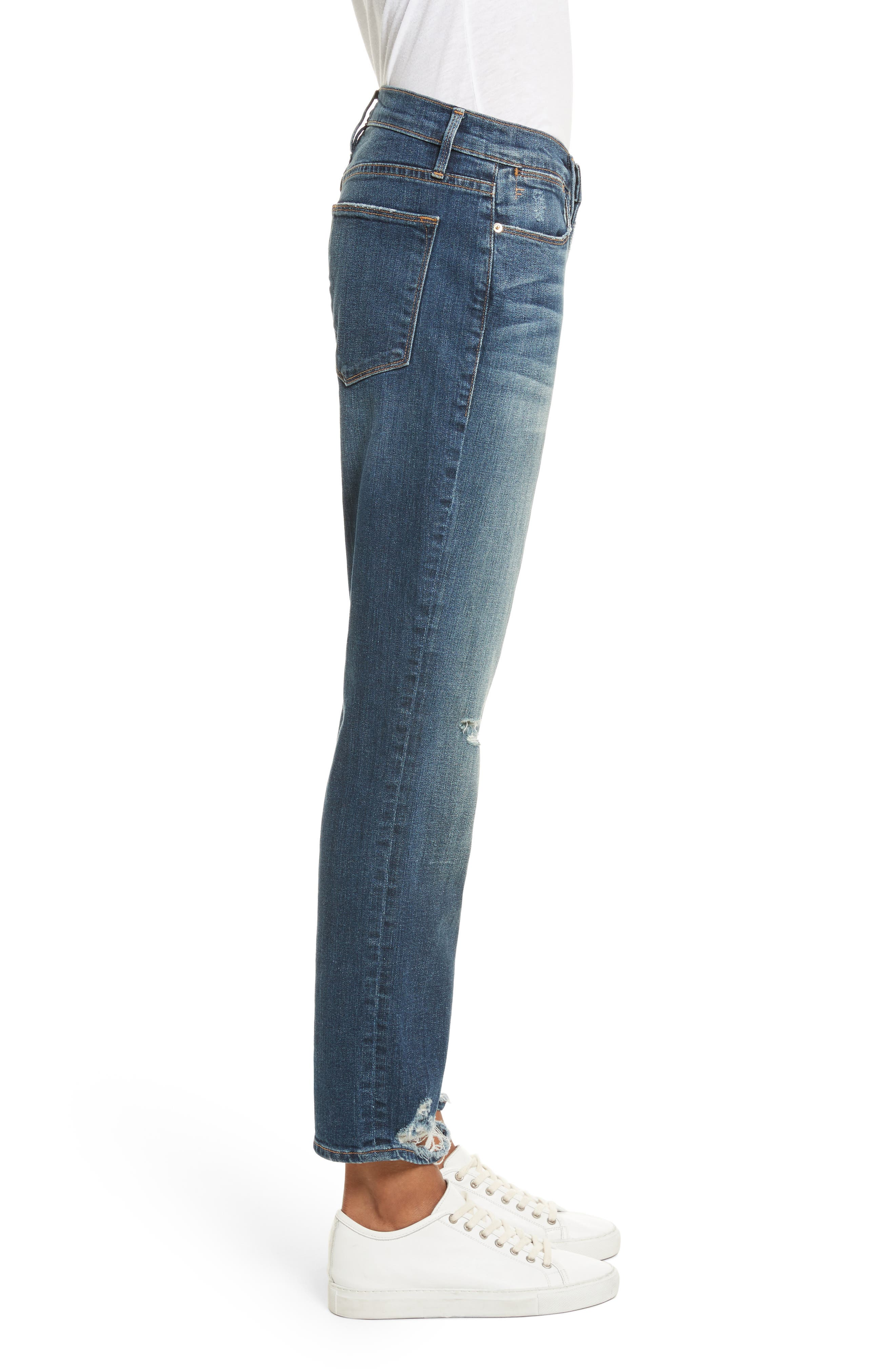 Le High Straight High Rise Jeans,                             Alternate thumbnail 3, color,                             402